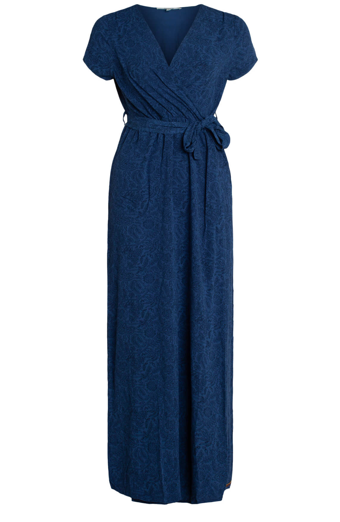 Moscow Dames Lange jurk met bloemenprint Blauw