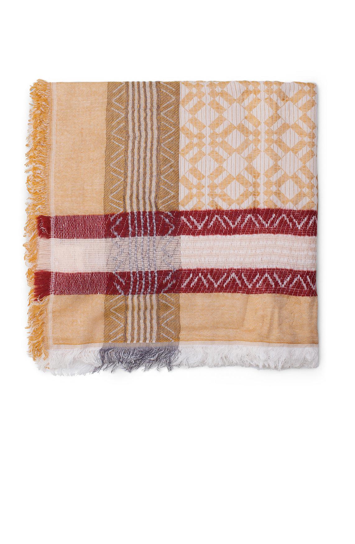 Moscow Dames Geprinte shawl geel
