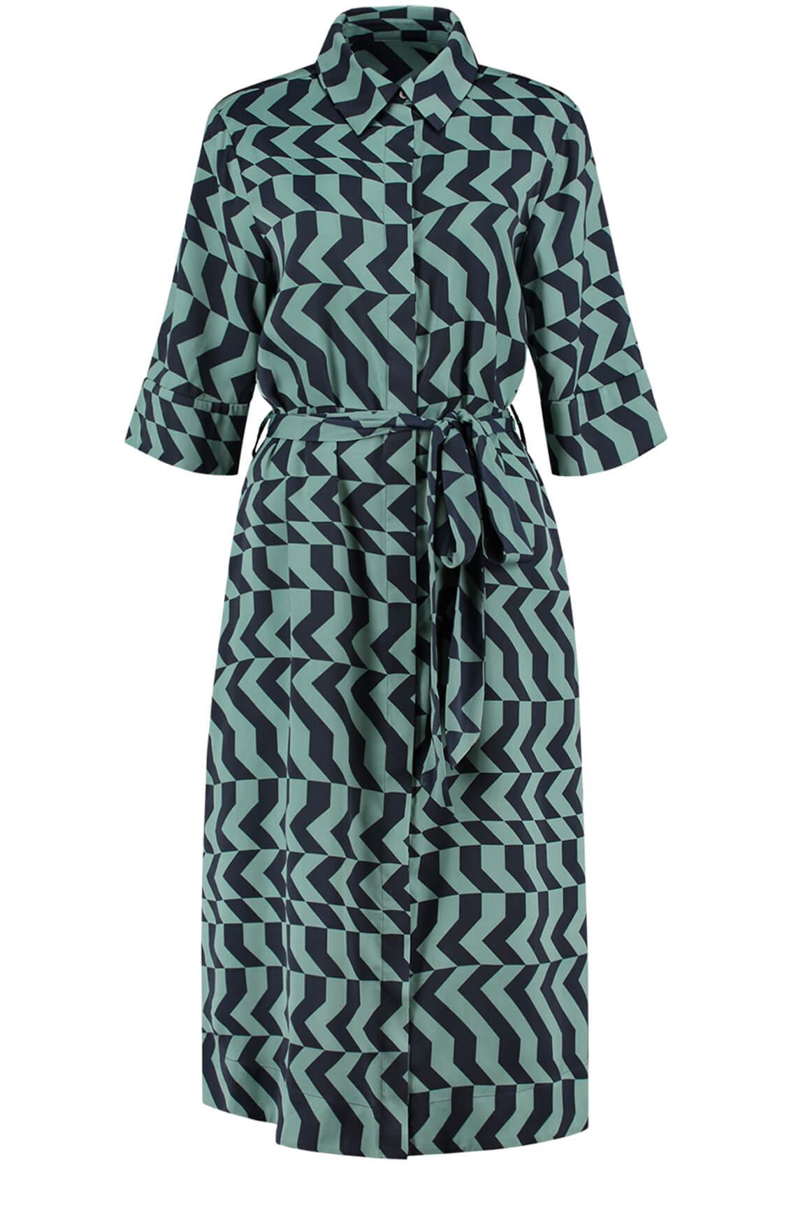 Fifth House Dames Rara lange zigzag jurk groen
