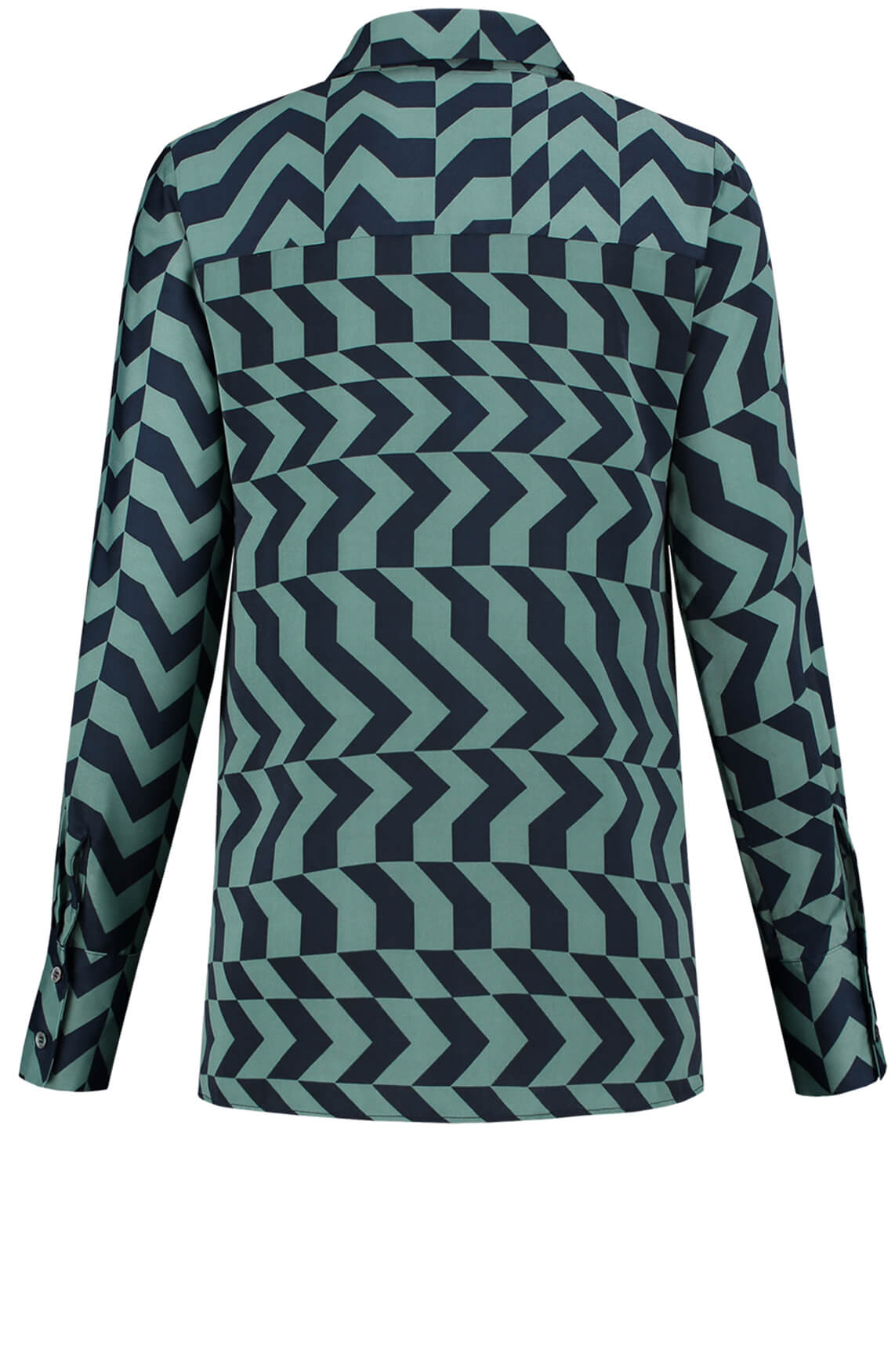 Fifth House Dames Rara zigzag blouse groen