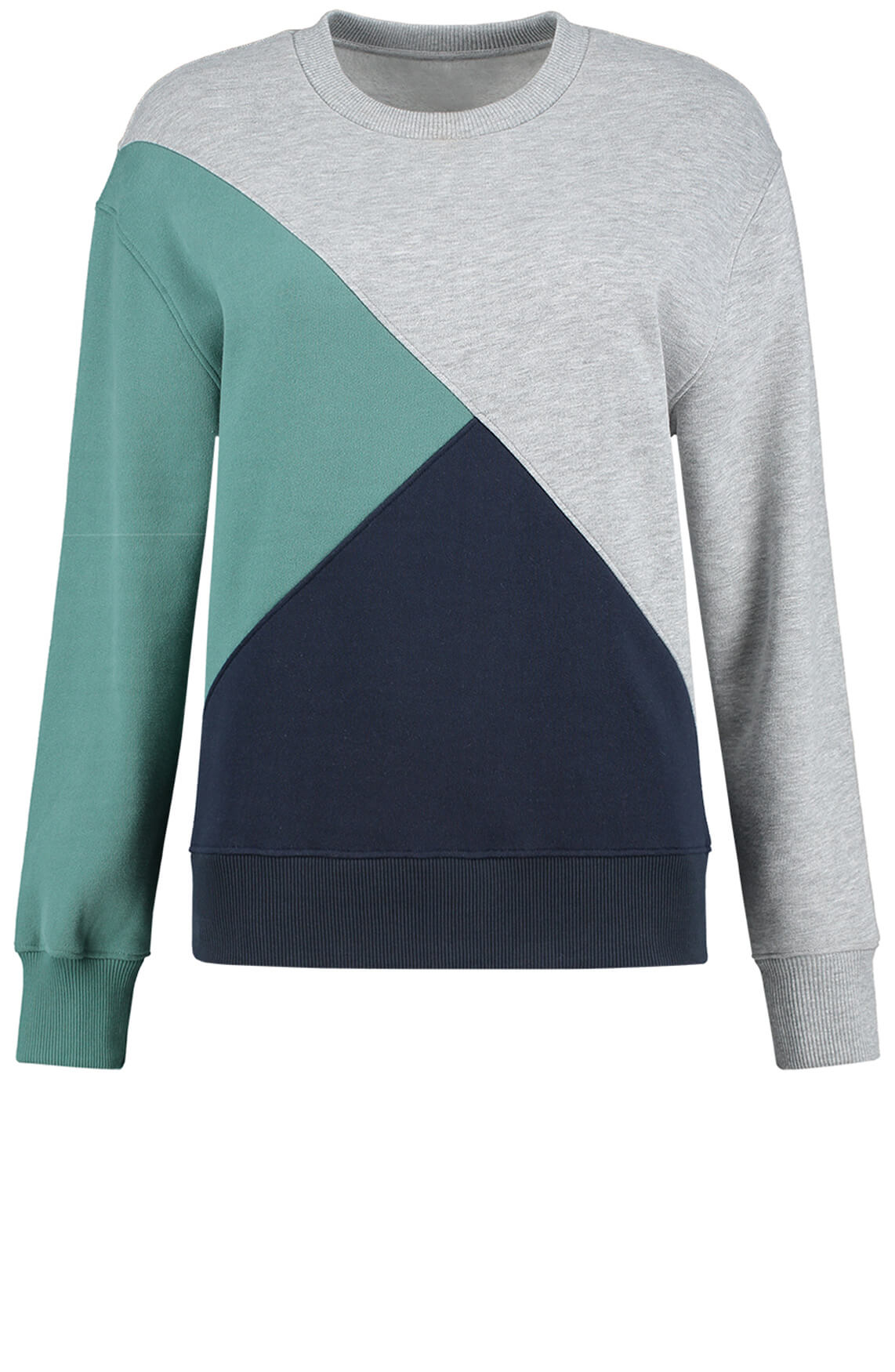 Fifth House Dames Elin colourblock sweater groen