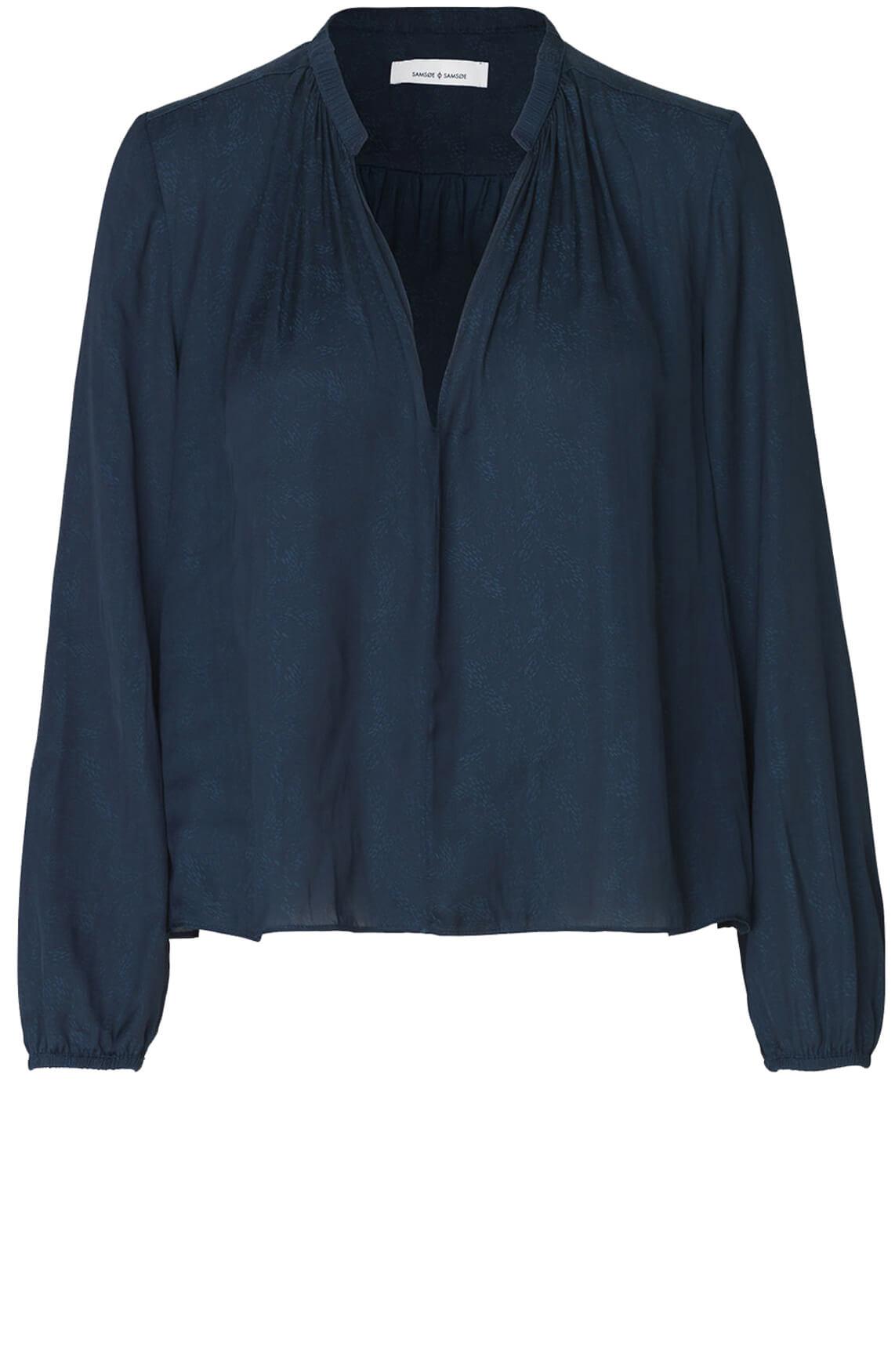 Samsoe Samsoe Dames Elva blouse Blauw