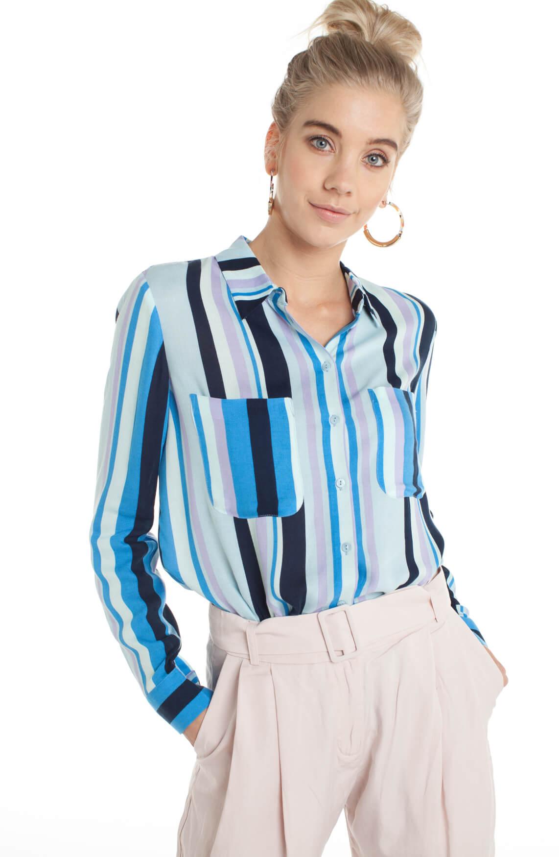 Samsoe Samsoe Dames Milly gestreepte blouse Blauw