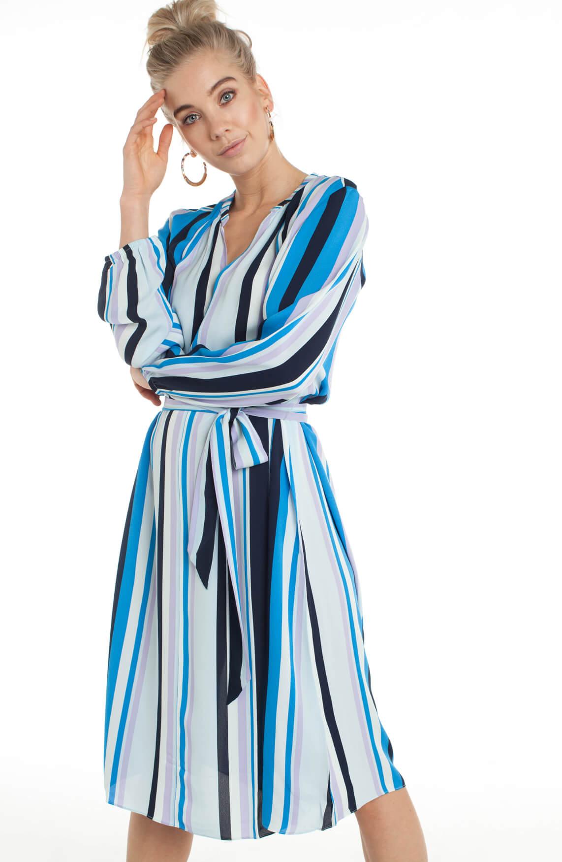 Samsoe Samsoe Dames Elva gestreepte jurk Paars