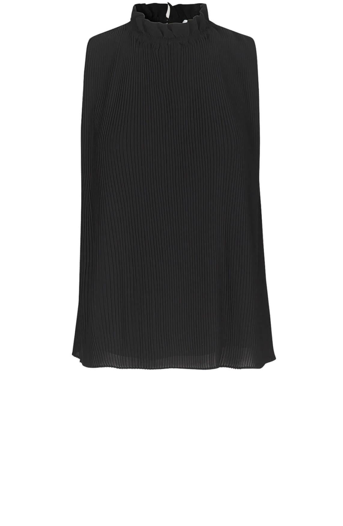 Samsoe Samsoe Dames Malie plissé blouse zwart