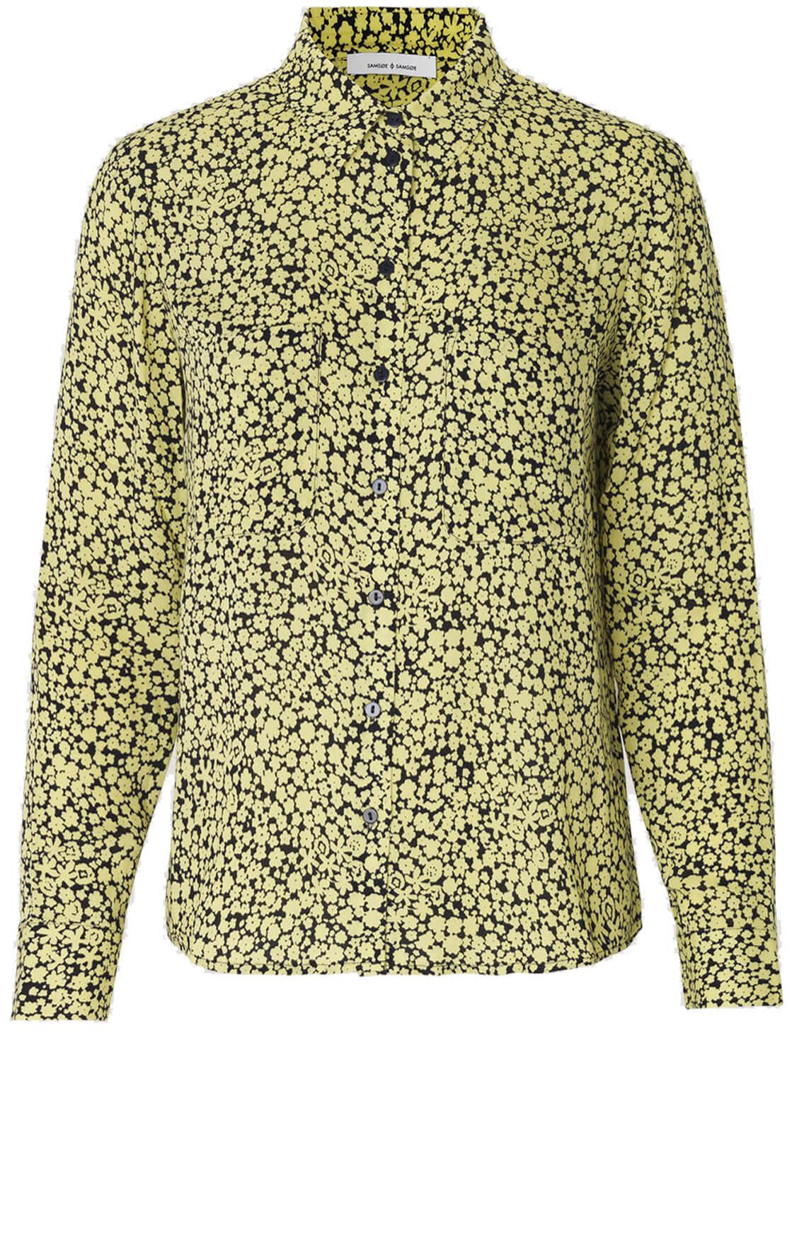 Samsoe Samsoe Dames Milly gebloemde blouse geel