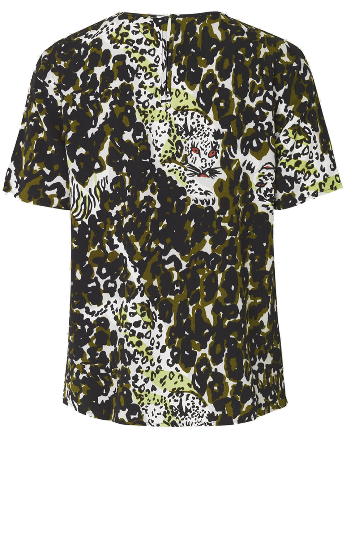 Samsoe Samsoe Dames Herdis camouflage shirt groen