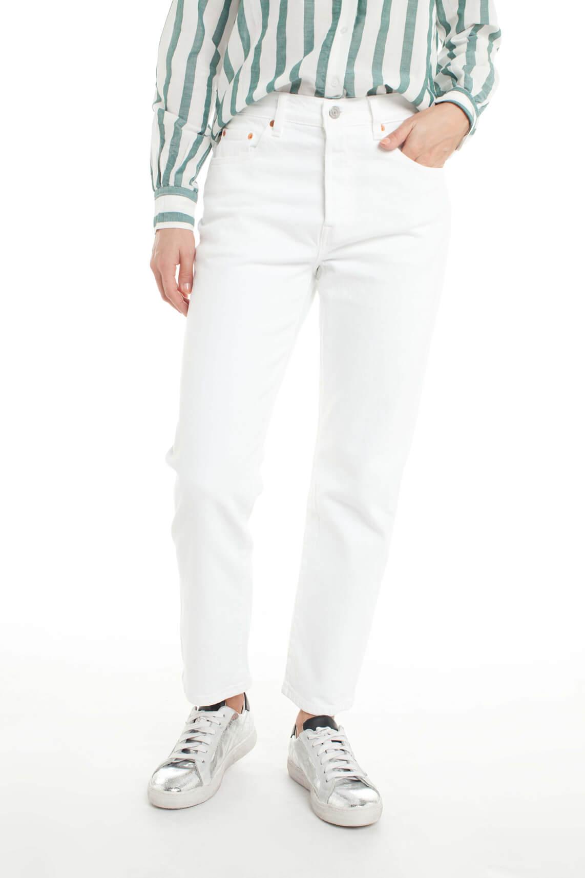 Levi s Dames 501 original cropped jeans wit