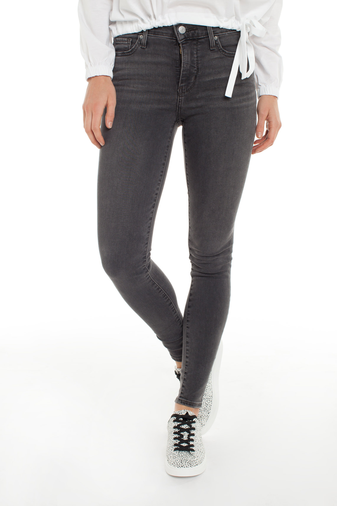 Levi s Dames Shaping skinny jeans L30 Grijs