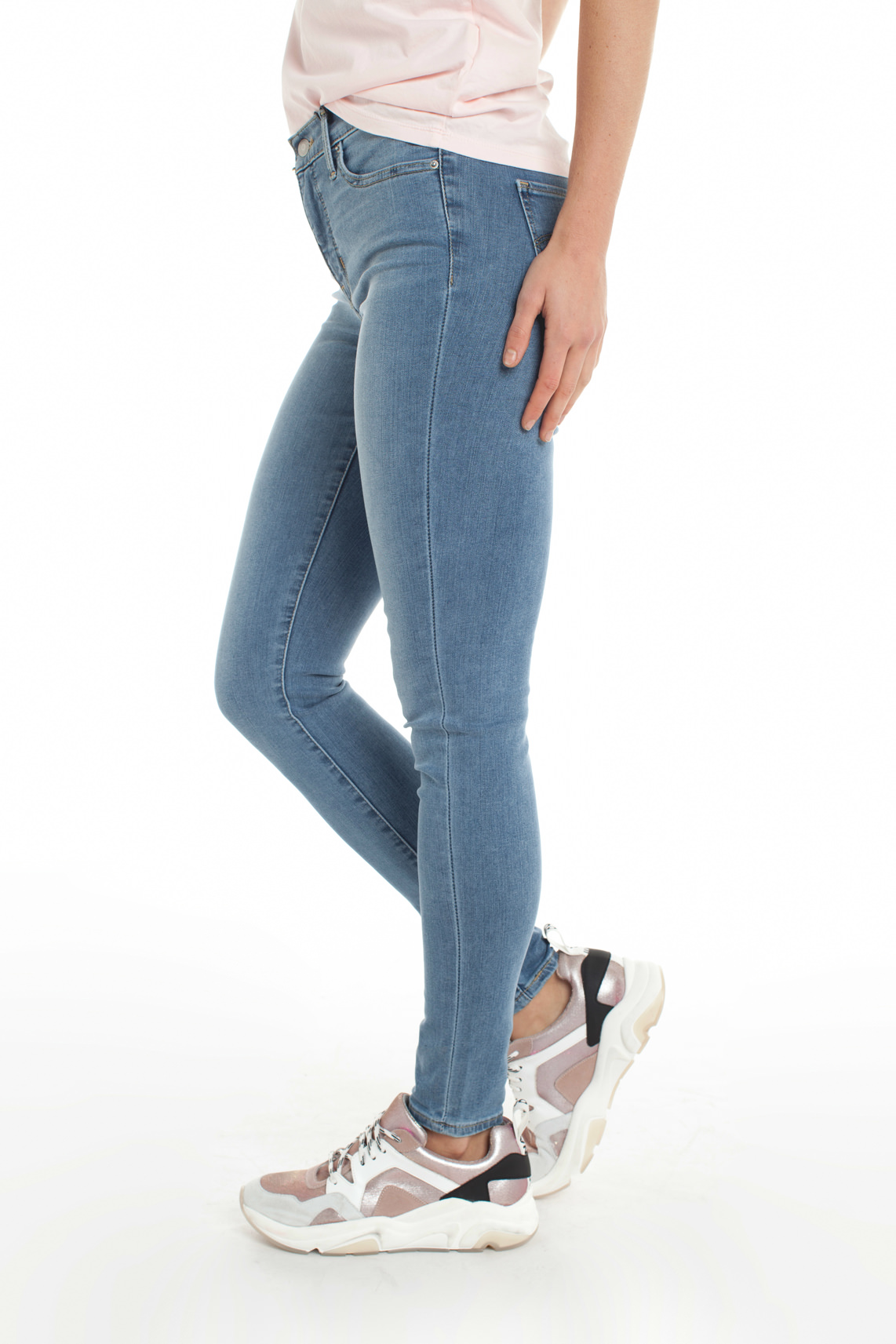 Levi s Dames 310 Shaping super skinny jeans Blauw