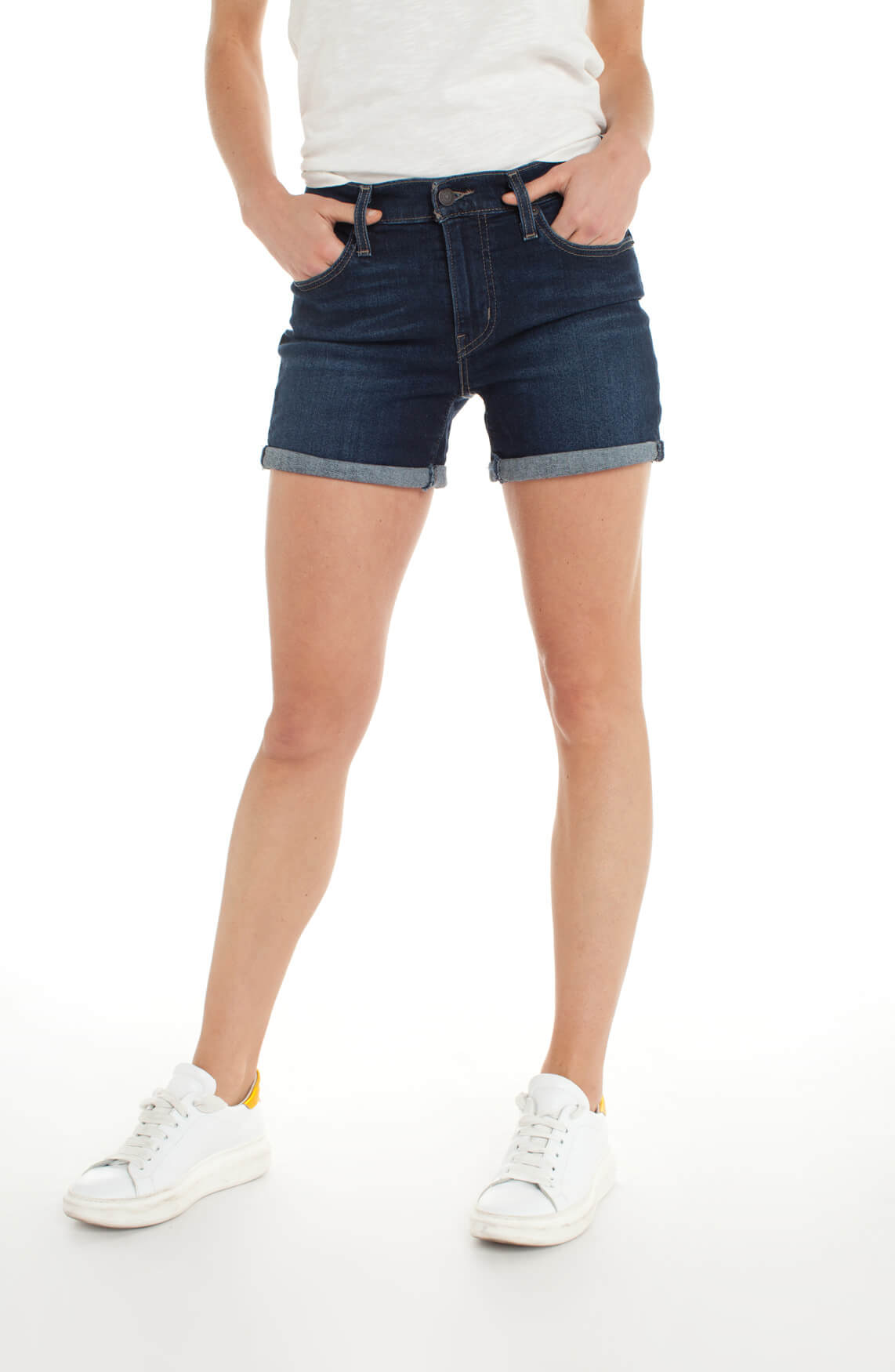 Levi s Dames Denim short Blauw