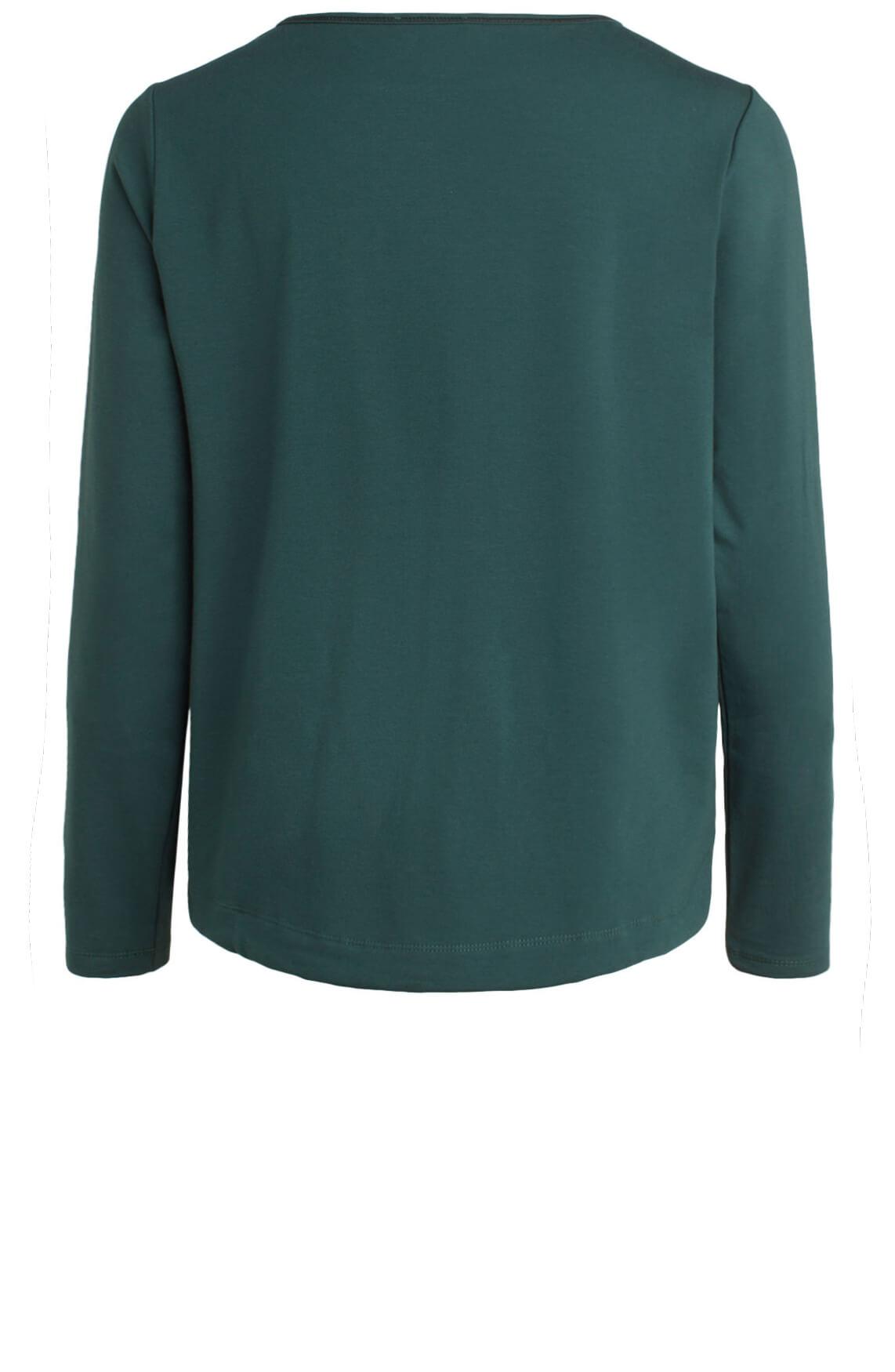 Anna Dames Pullover met koordsluiting groen