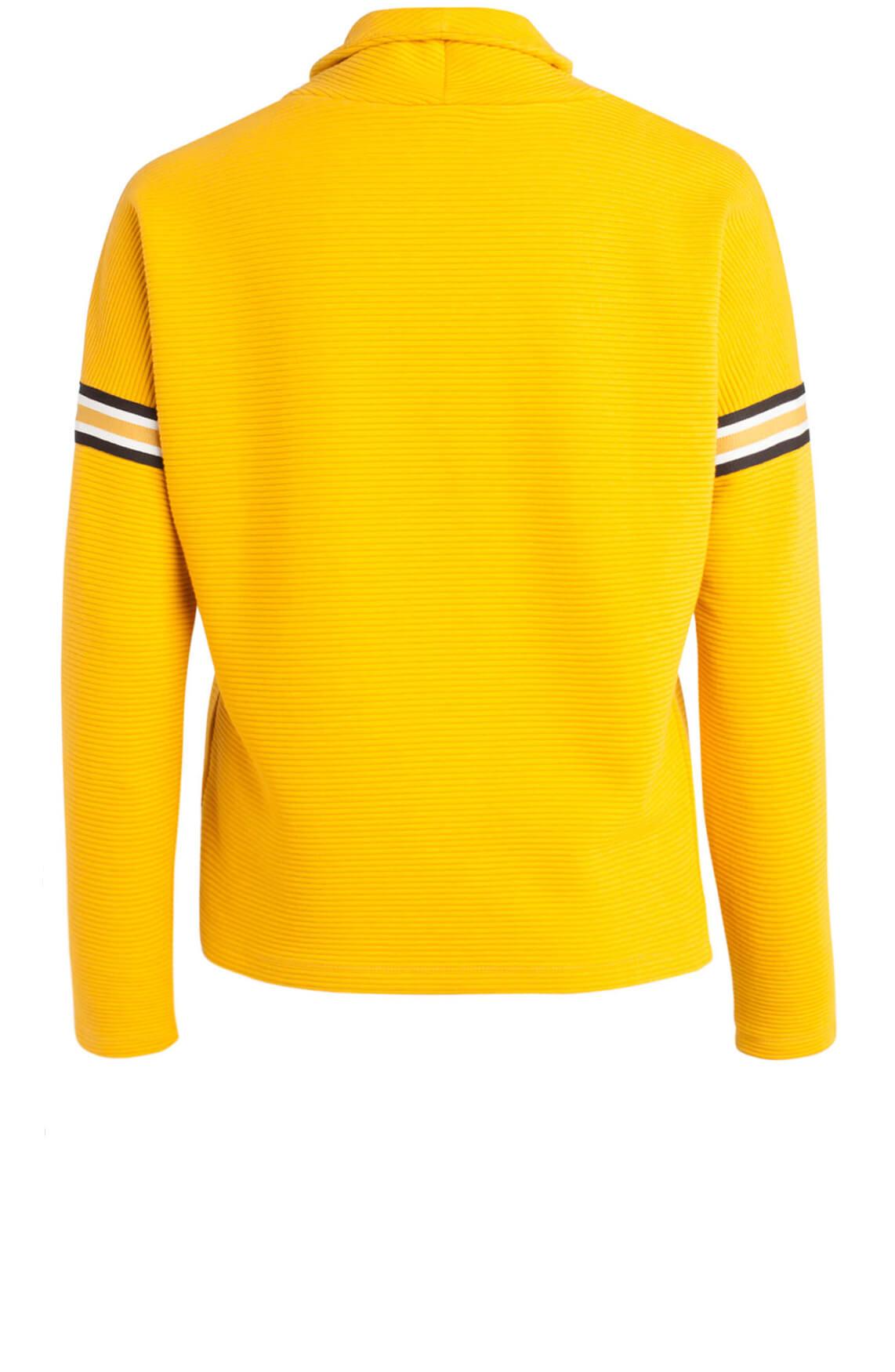 Anna Dames Ribgebreide sweater geel