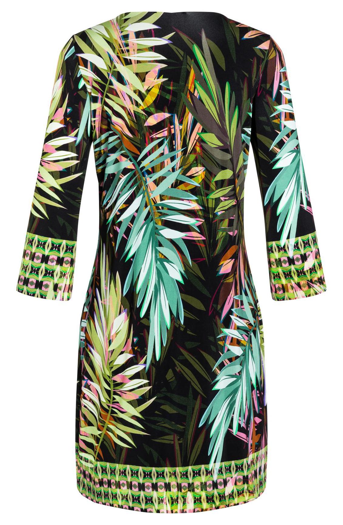 Ana Alcazar Dames Jurk met jungle print groen