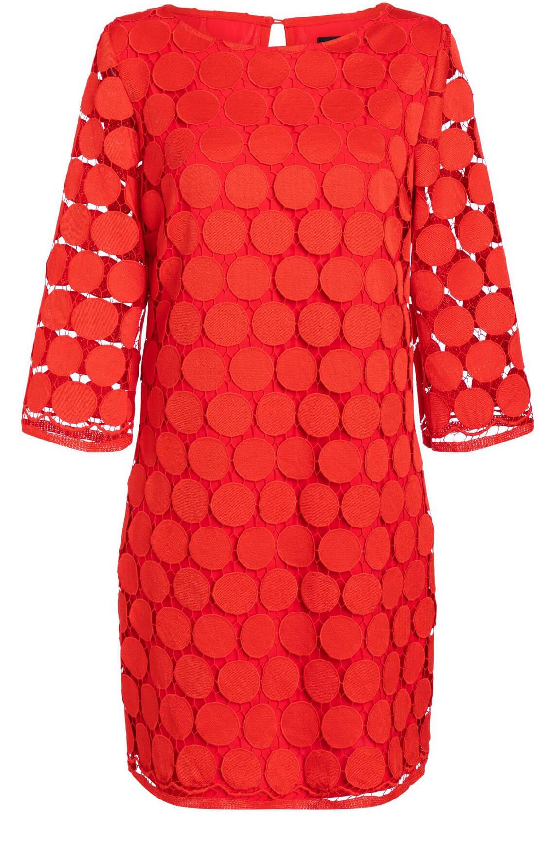 Ana Alcazar Dames Sakola jurk met kant Rood