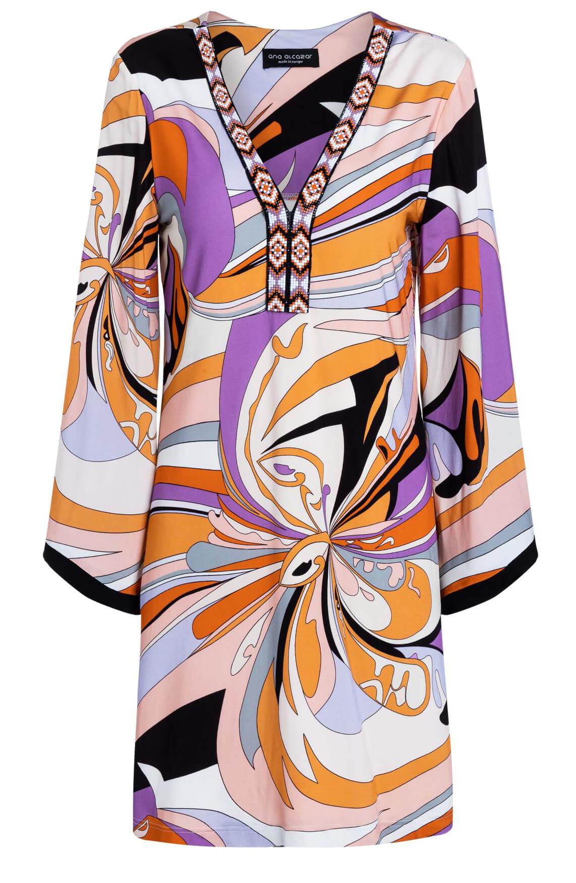 Ana Alcazar Dames Geprinte jurk Oranje