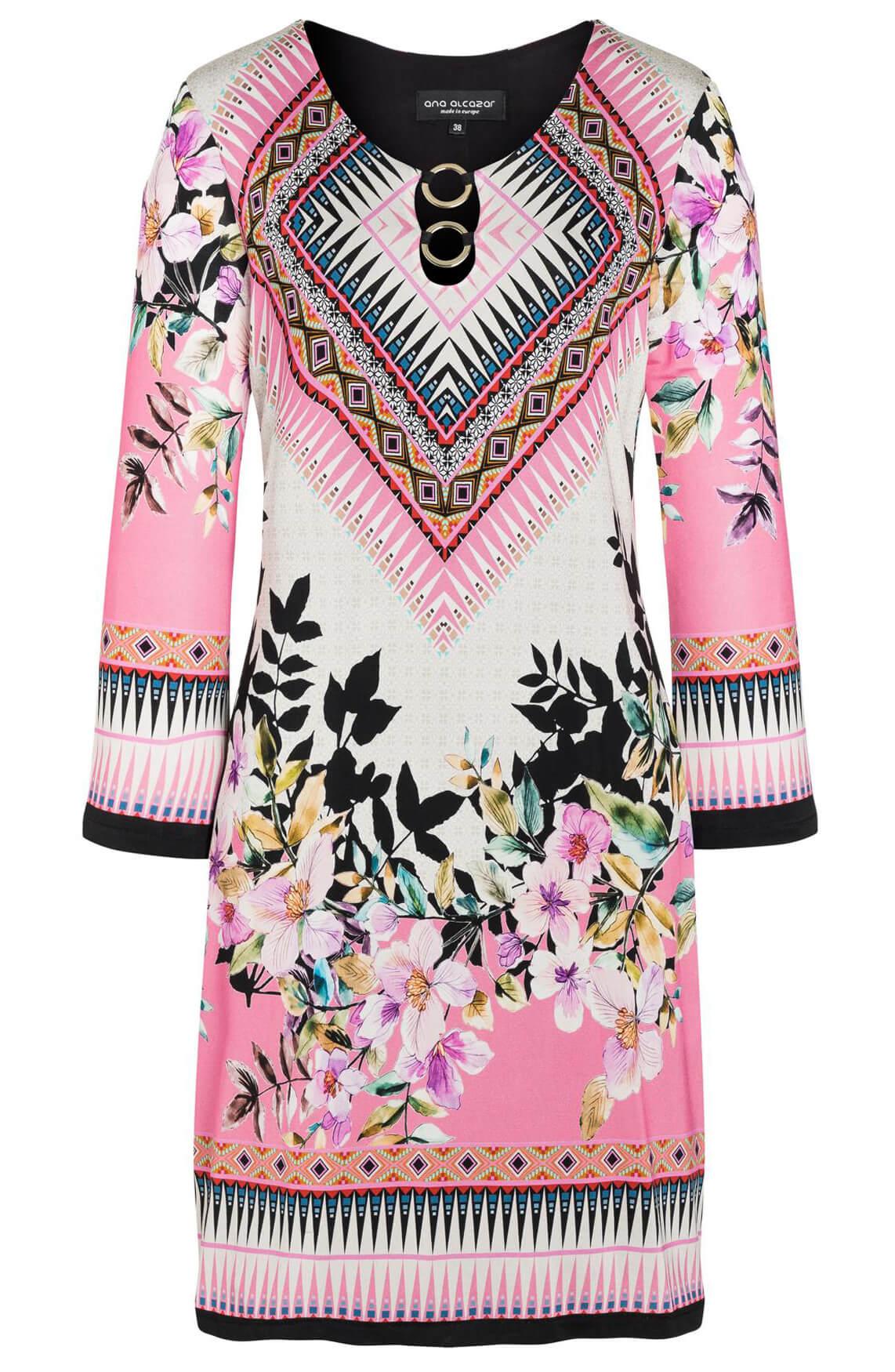 Ana Alcazar Dames Shella jurk met print roze