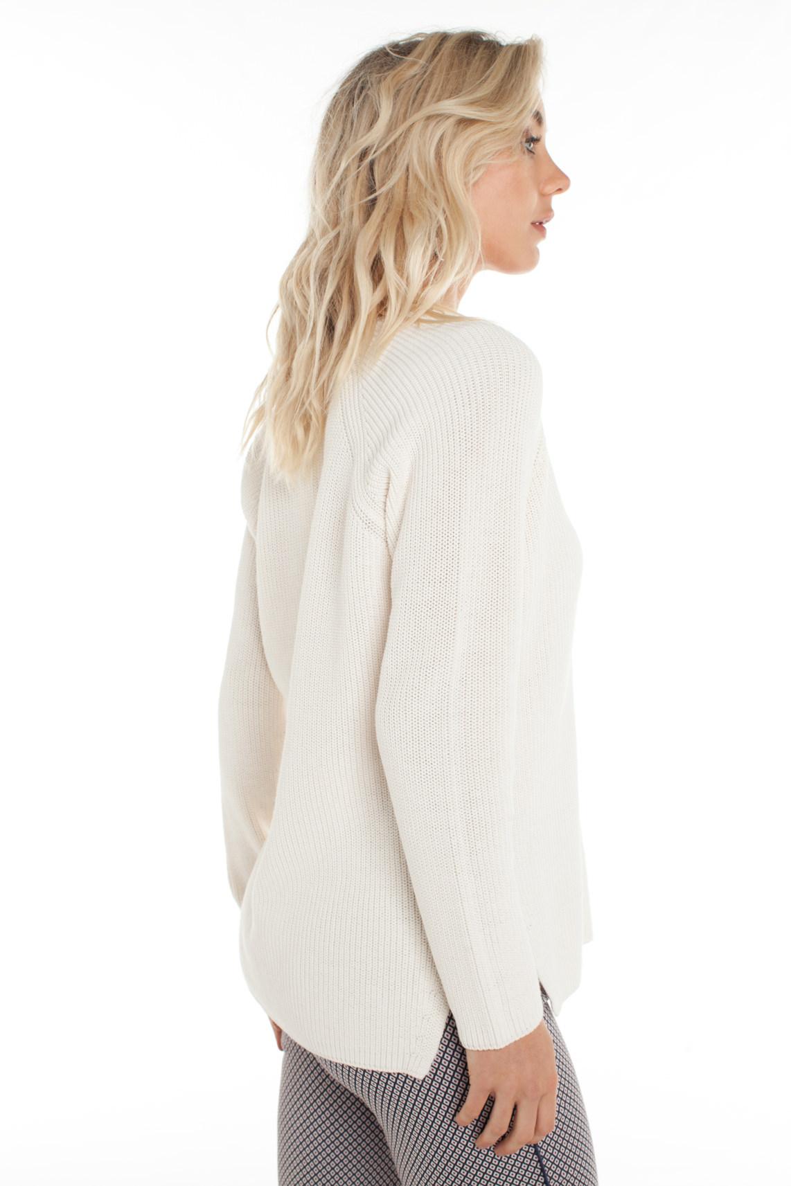 Drykorn Dames Sabija gebreide pullover wit