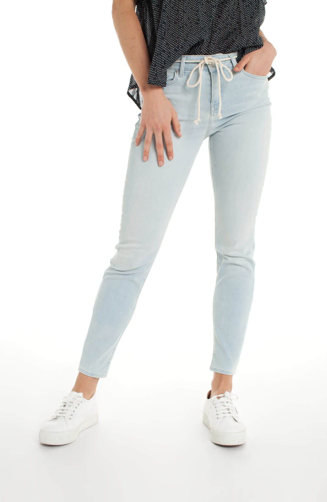 Drykorn Dames Need cropped jeans Blauw