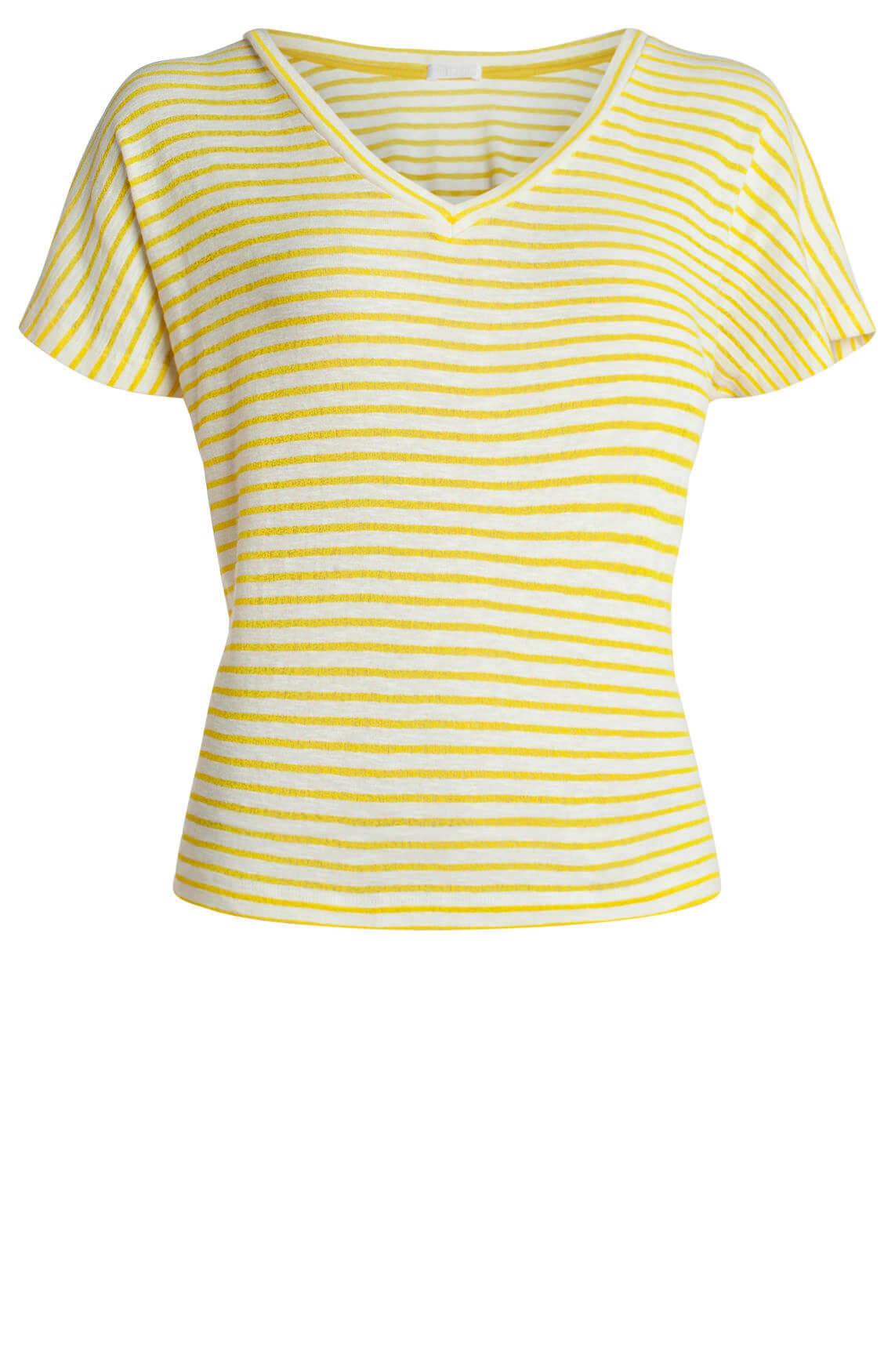 Drykorn Dames Svana gestreept shirt geel