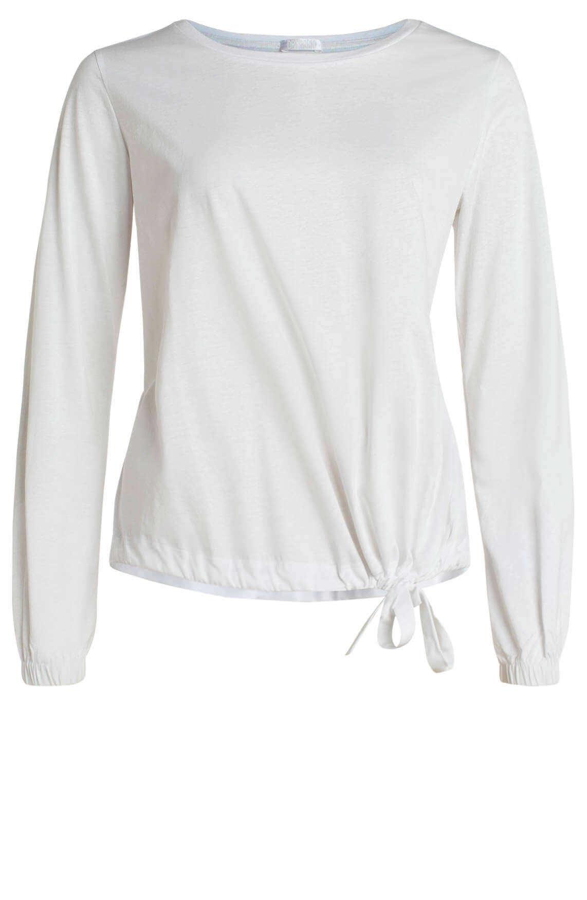 Drykorn Dames Vreda shirt met koordsluiting wit