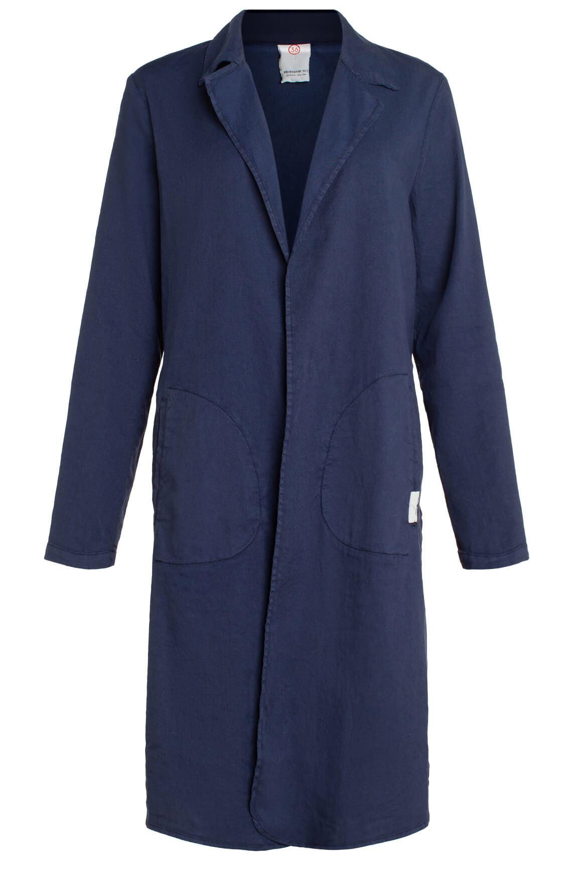 Penn & Ink Dames Materiaalmix blazerjas Blauw