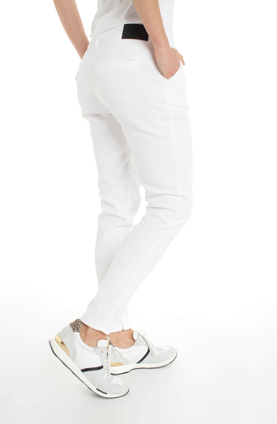 Penn & Ink Dames Chino wit