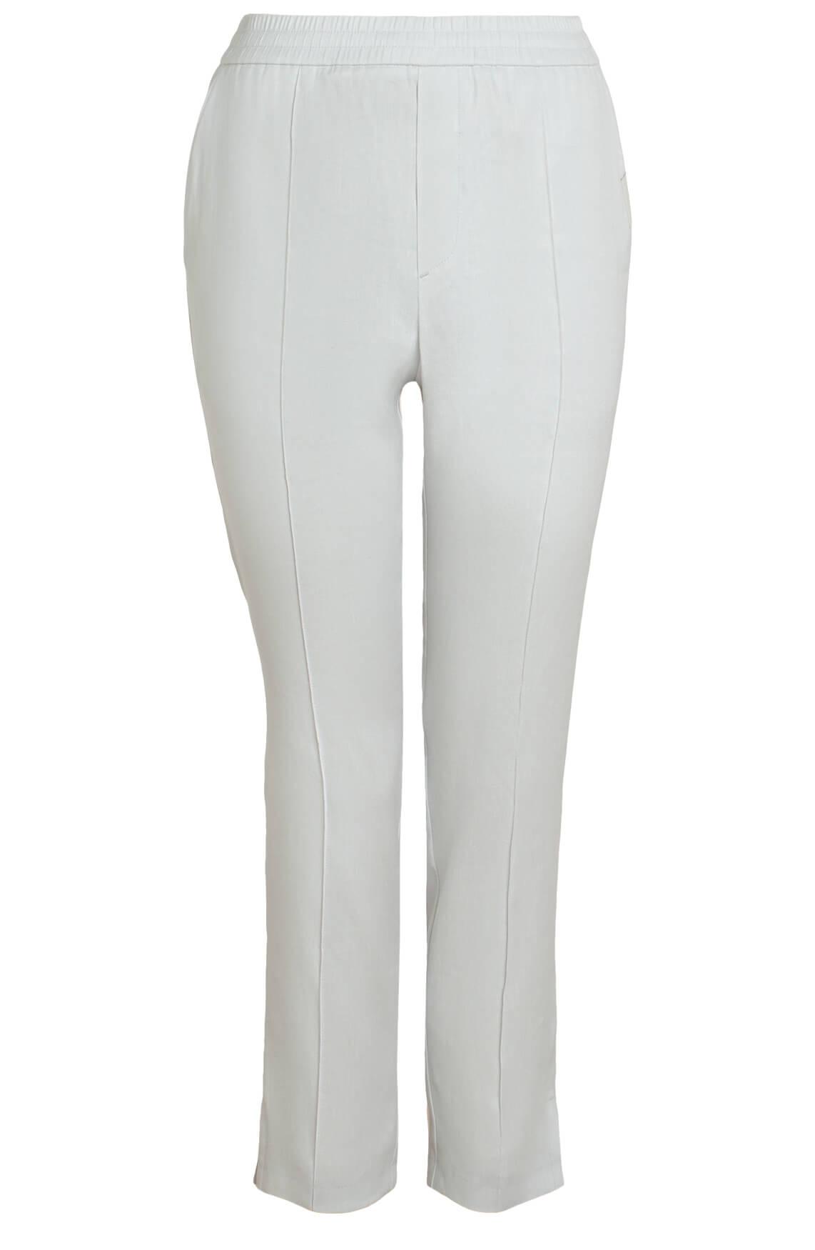 Penn & Ink Dames Pantalon met koordsluiting wit