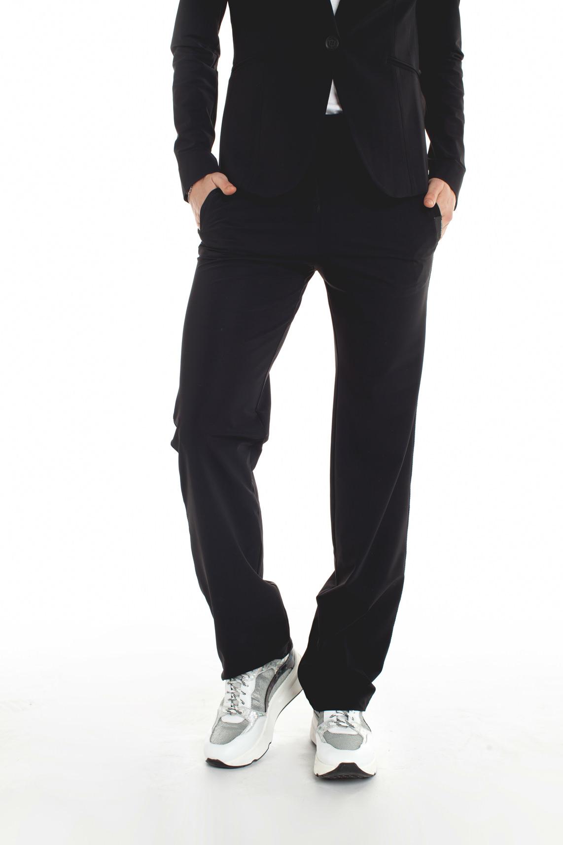 Penn & Ink Dames Jersey broek zwart