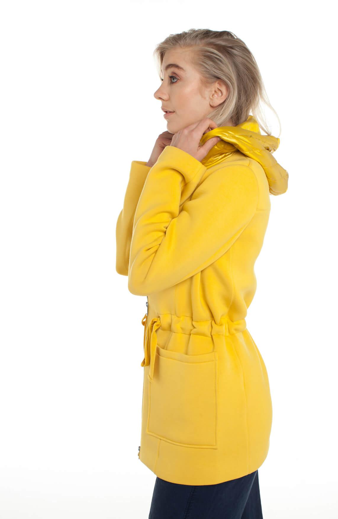 Beaumont Dames Tussenjas met capuchon geel