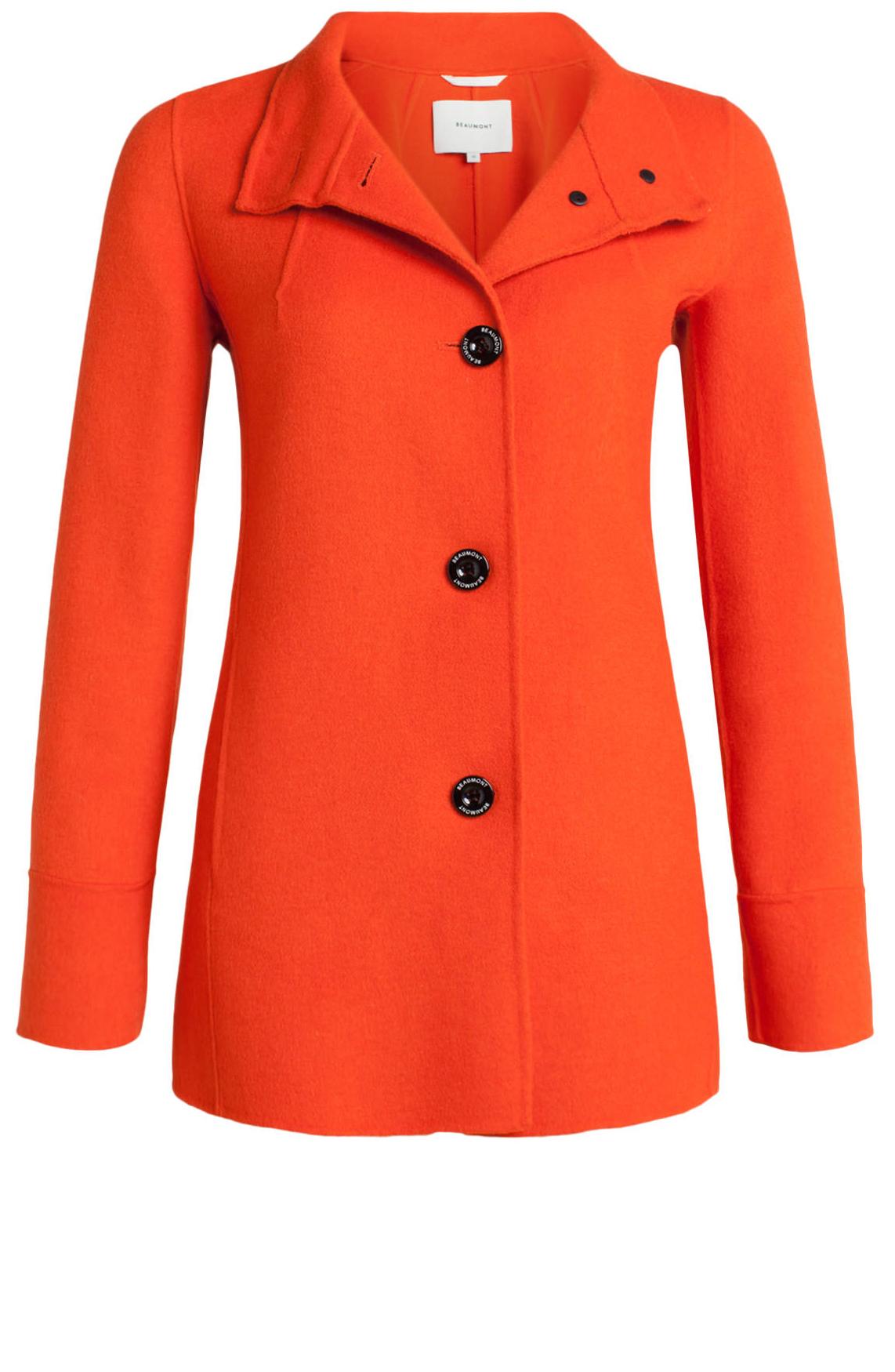 Beaumont Dames Korte wolmix mantel Oranje