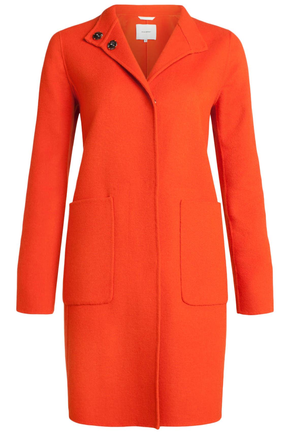 Beaumont Dames Lange wolmix mantel Oranje