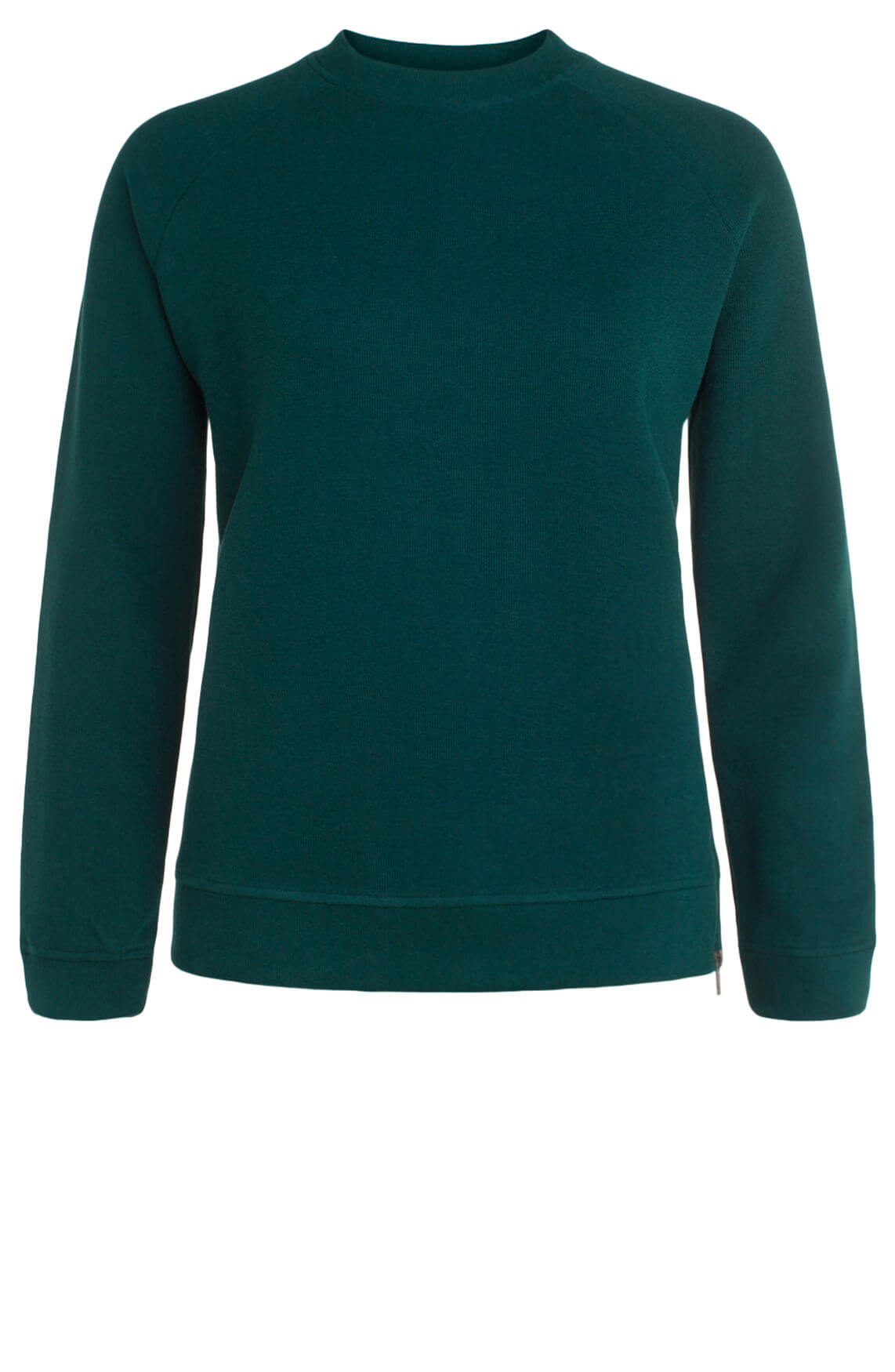 Anna Dames Ribgebreide pullover groen