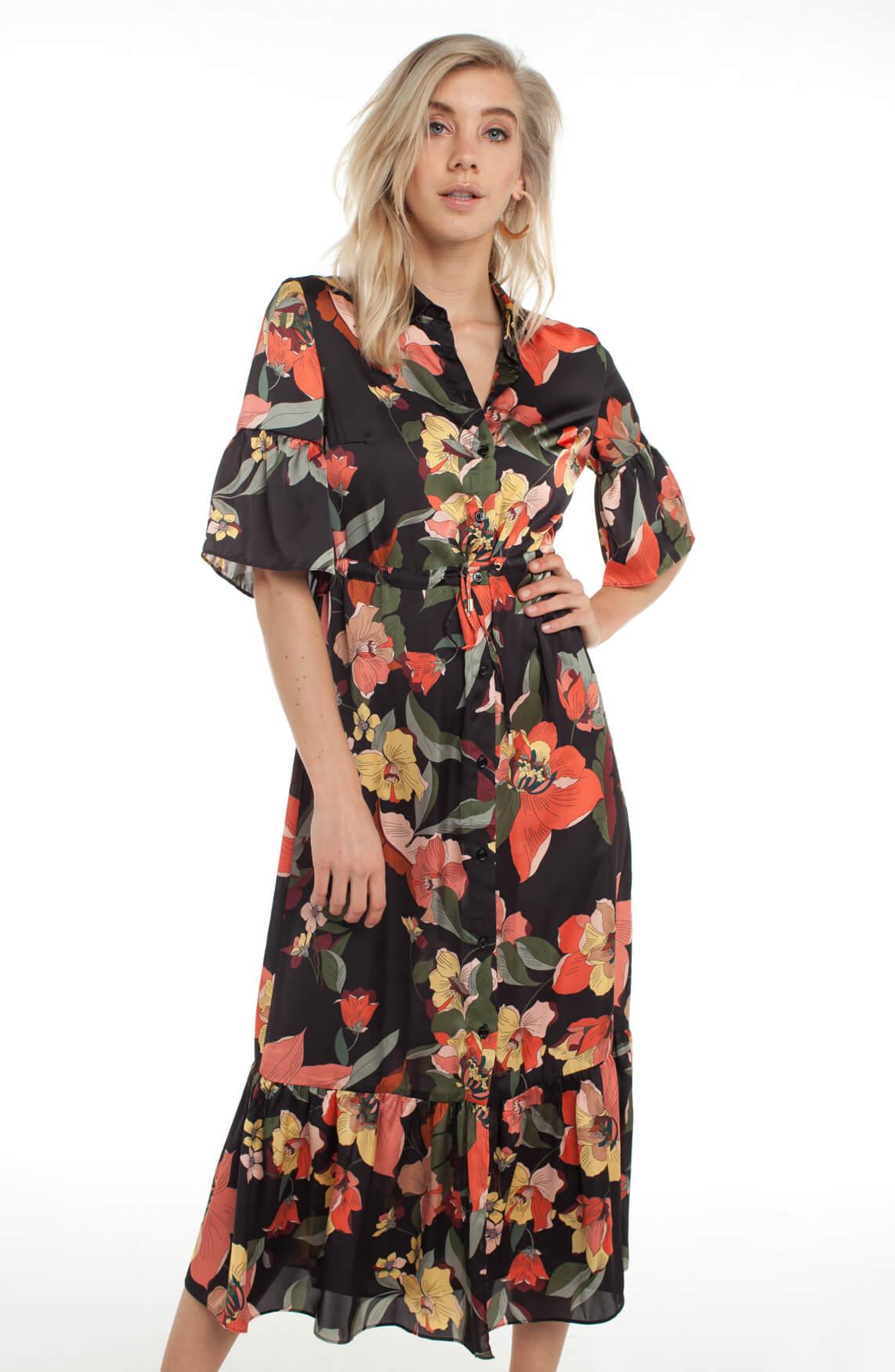 Kocca Dames Gervasiol gebloemde jurk zwart