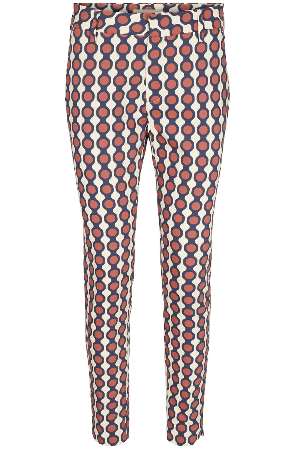 Mos Mosh Dames Abbey geprinte pantalon Bruin