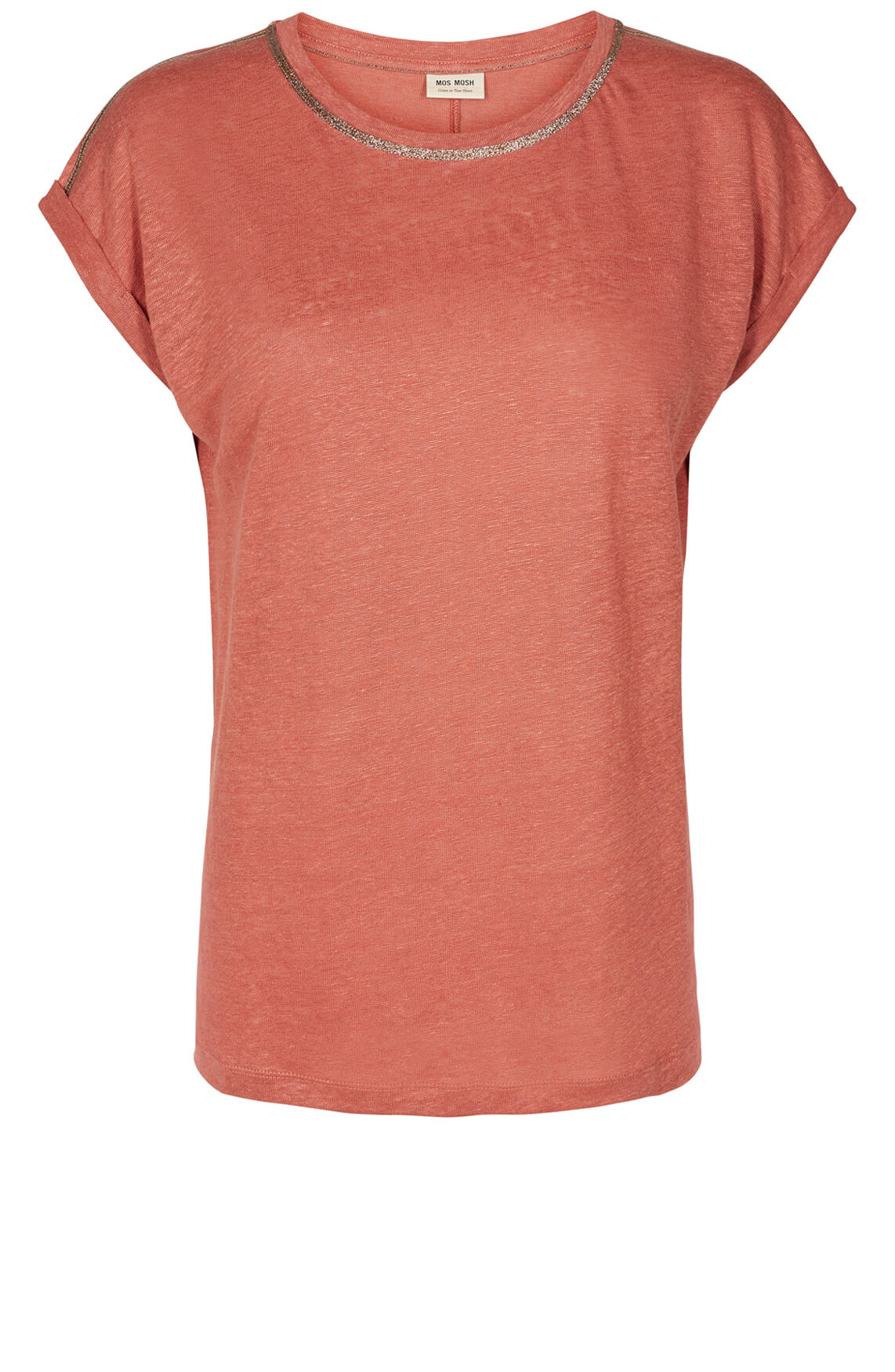 Mos Mosh Dames Ina linnen shirt Rood