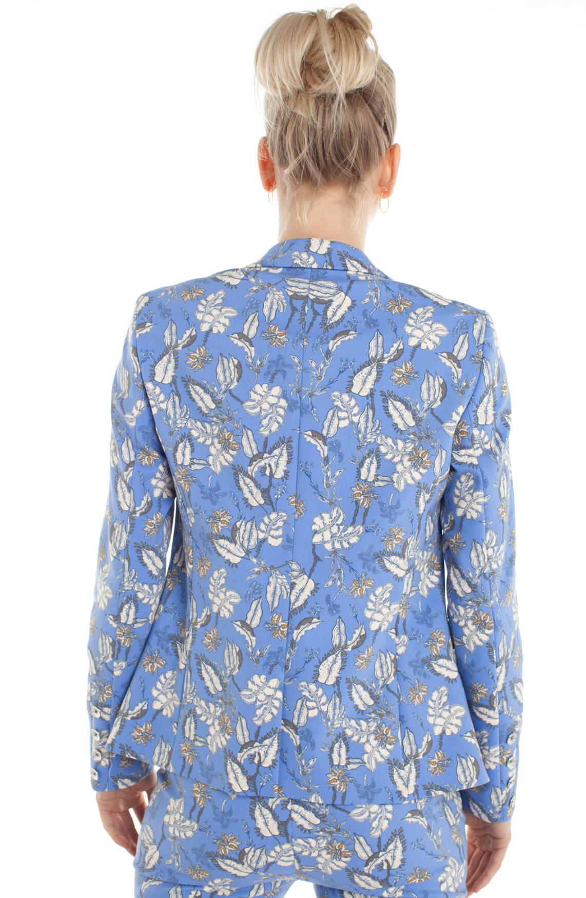 Mos Mosh Dames Blake gebloemde blazer Blauw | Anna van Toor
