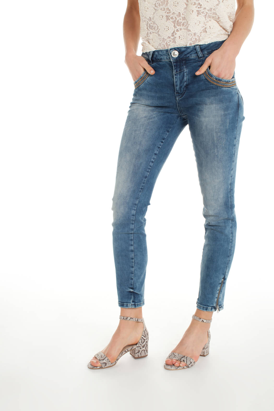 Mos Mosh Dames Naomi 7/8 jeans Blauw