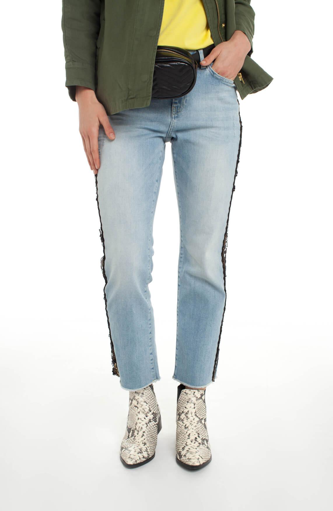 Mos Mosh Dames Sunn jeans met pailletten Blauw