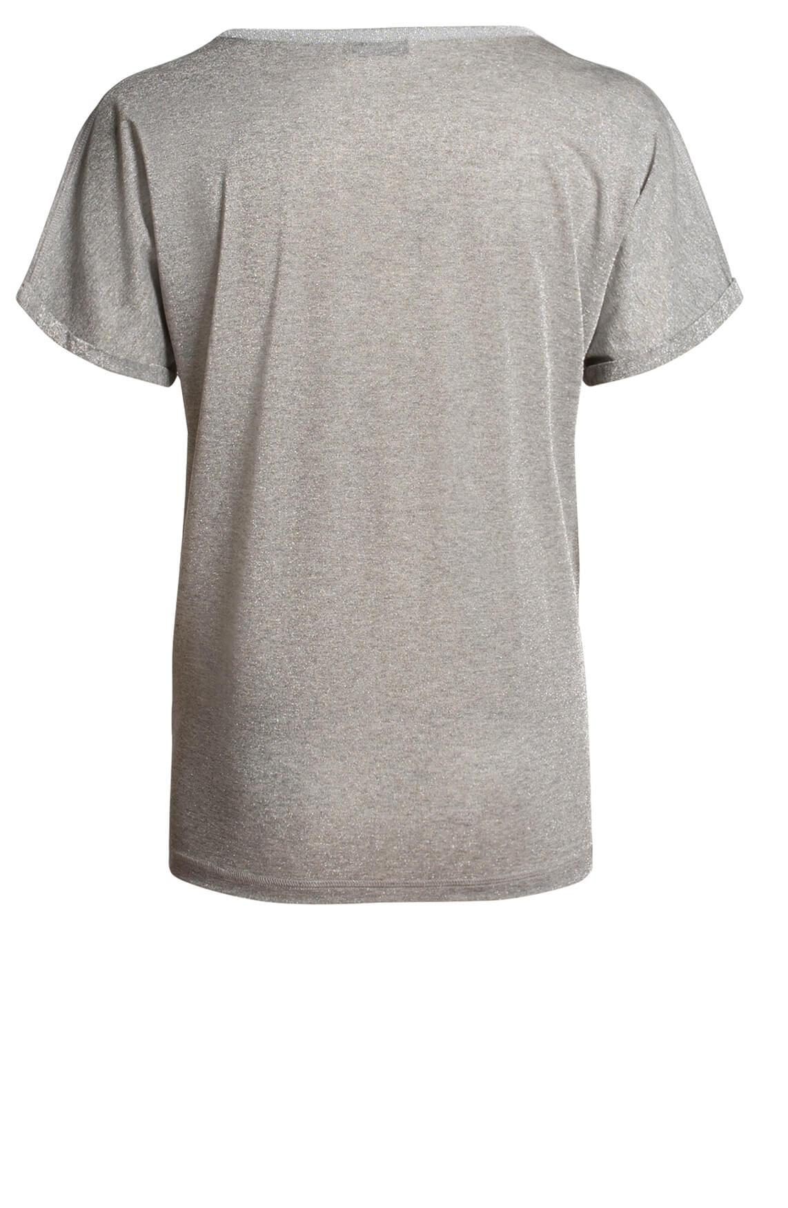Mos Mosh Dames Kay glitter shirt Grijs