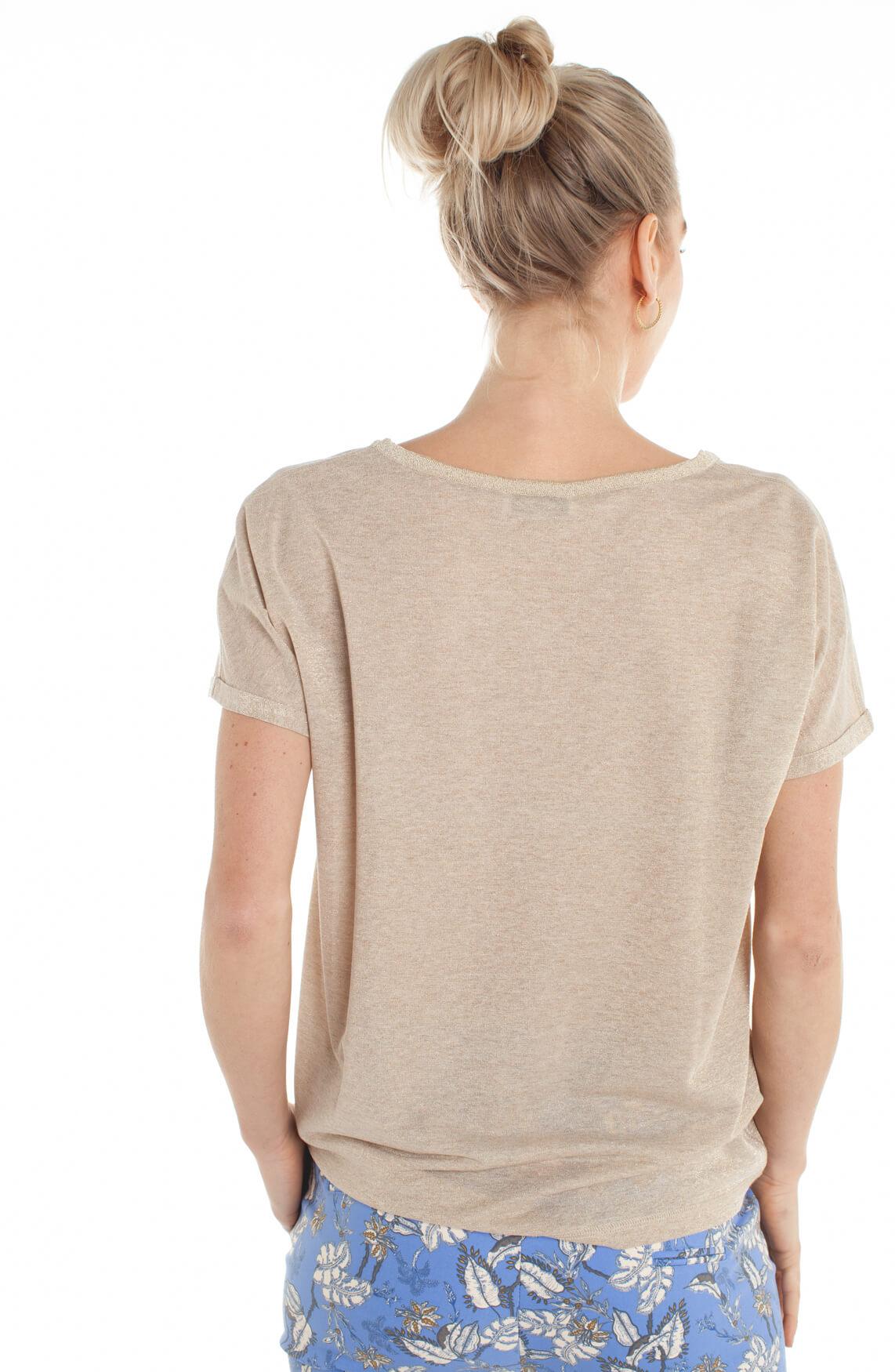 Mos Mosh Dames Kay glitter shirt Ecru