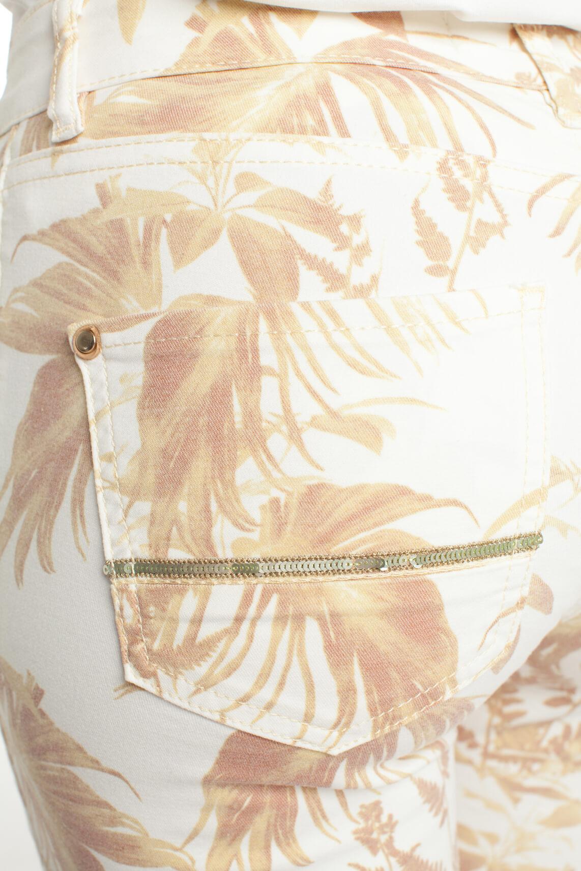 Mos Mosh Dames Sumner Cannes geprinte jeans geel