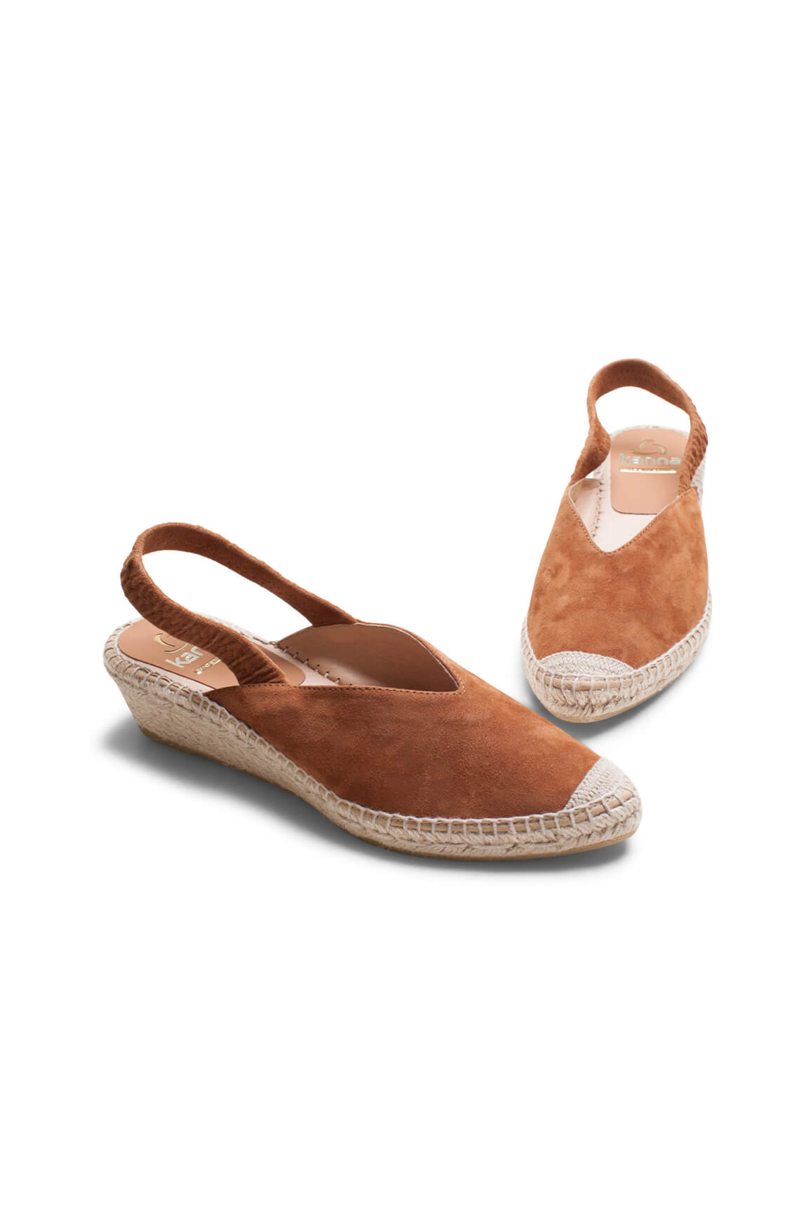 Kanna Dames Suède sandaal Bruin