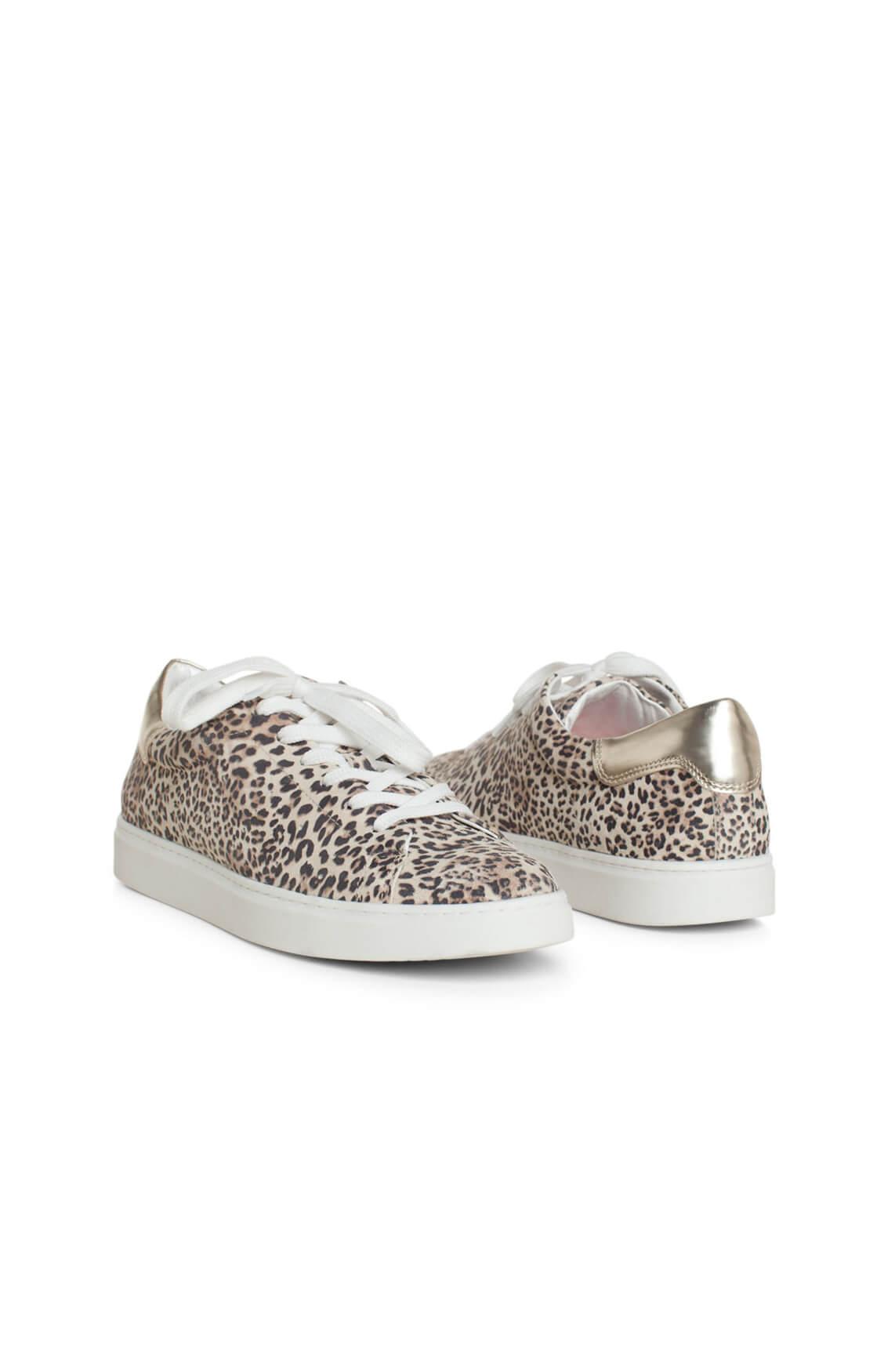 Hip Dames Sneaker met panterprint Bruin