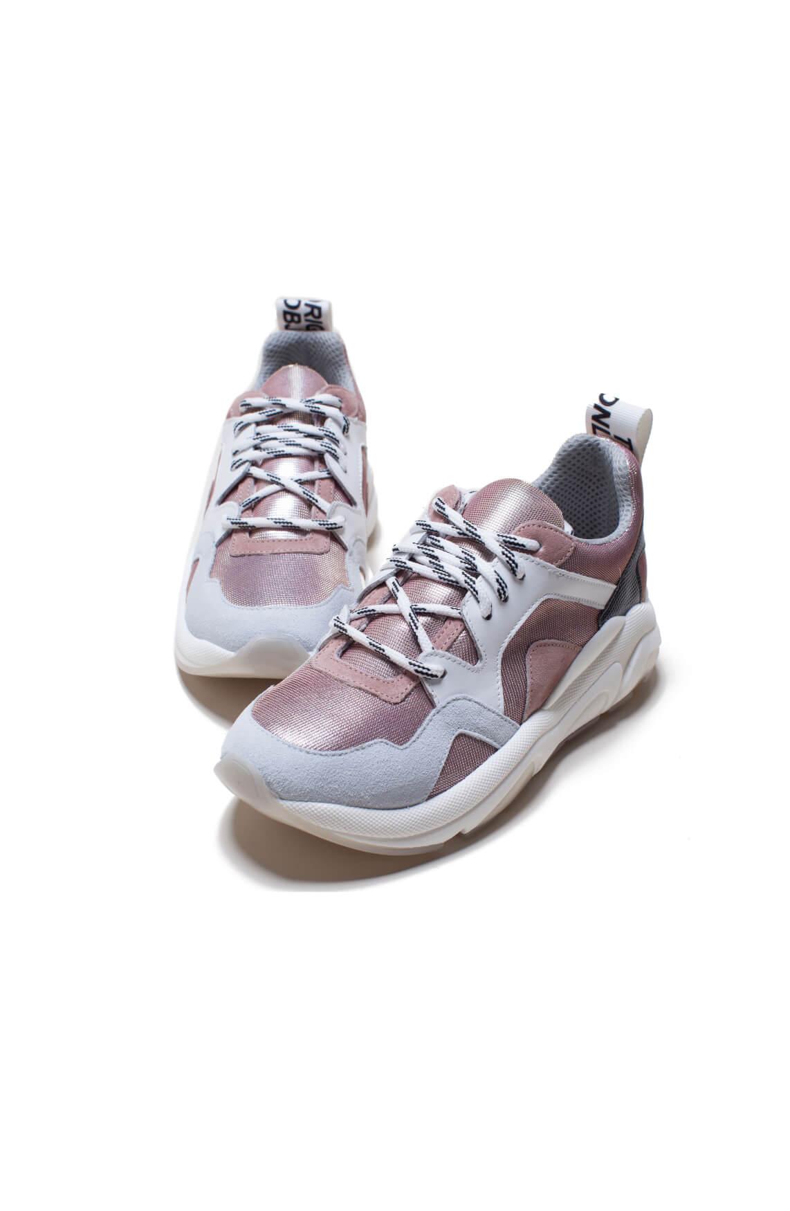 Meline Dames Metallic sneaker roze