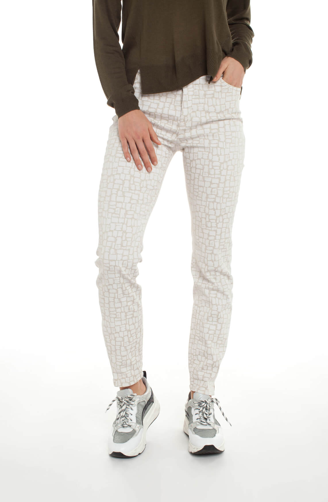 Rosner Dames Audrey broek met print wit