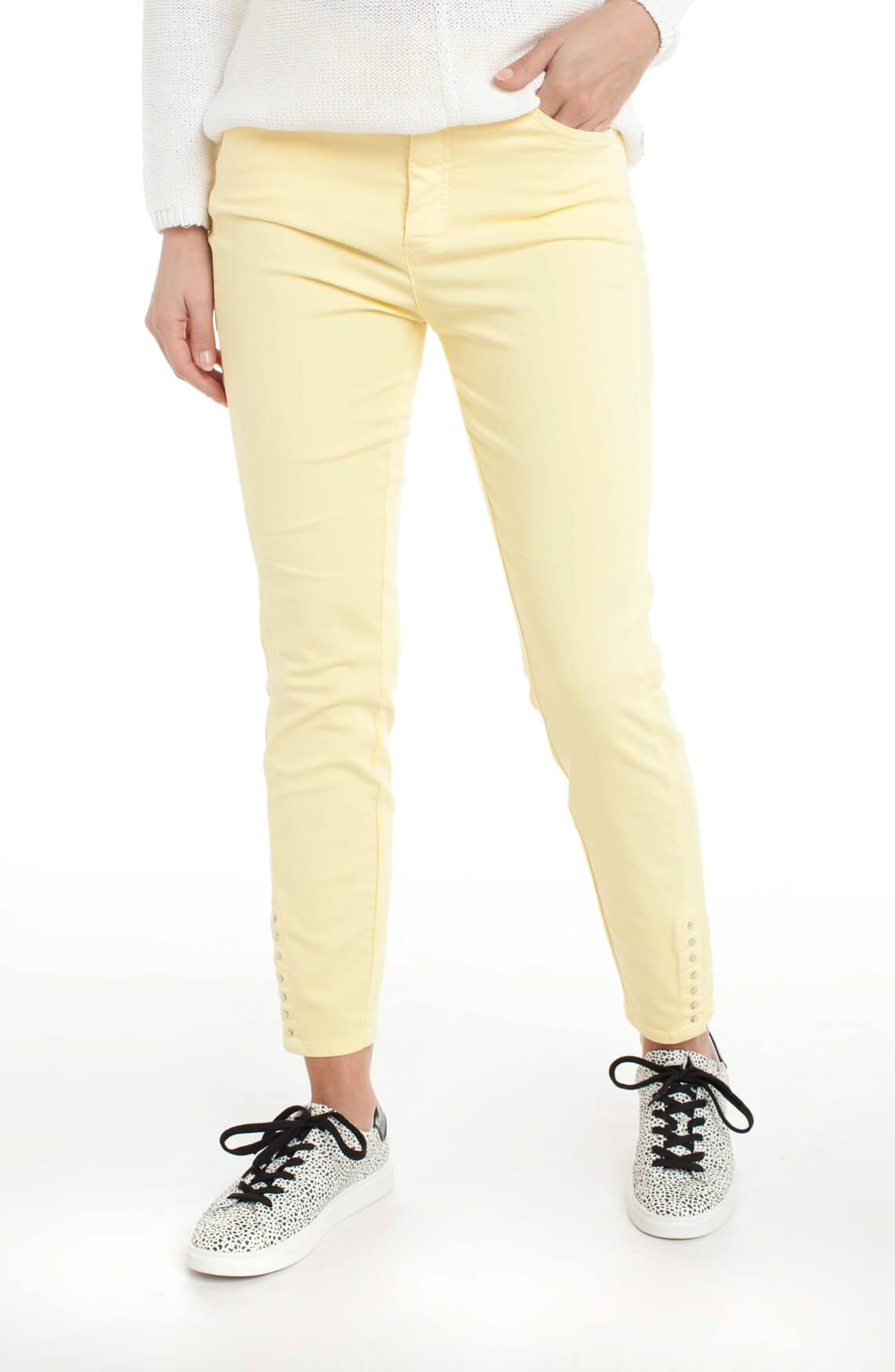 Rosner Dames Audrey broek met knopen geel