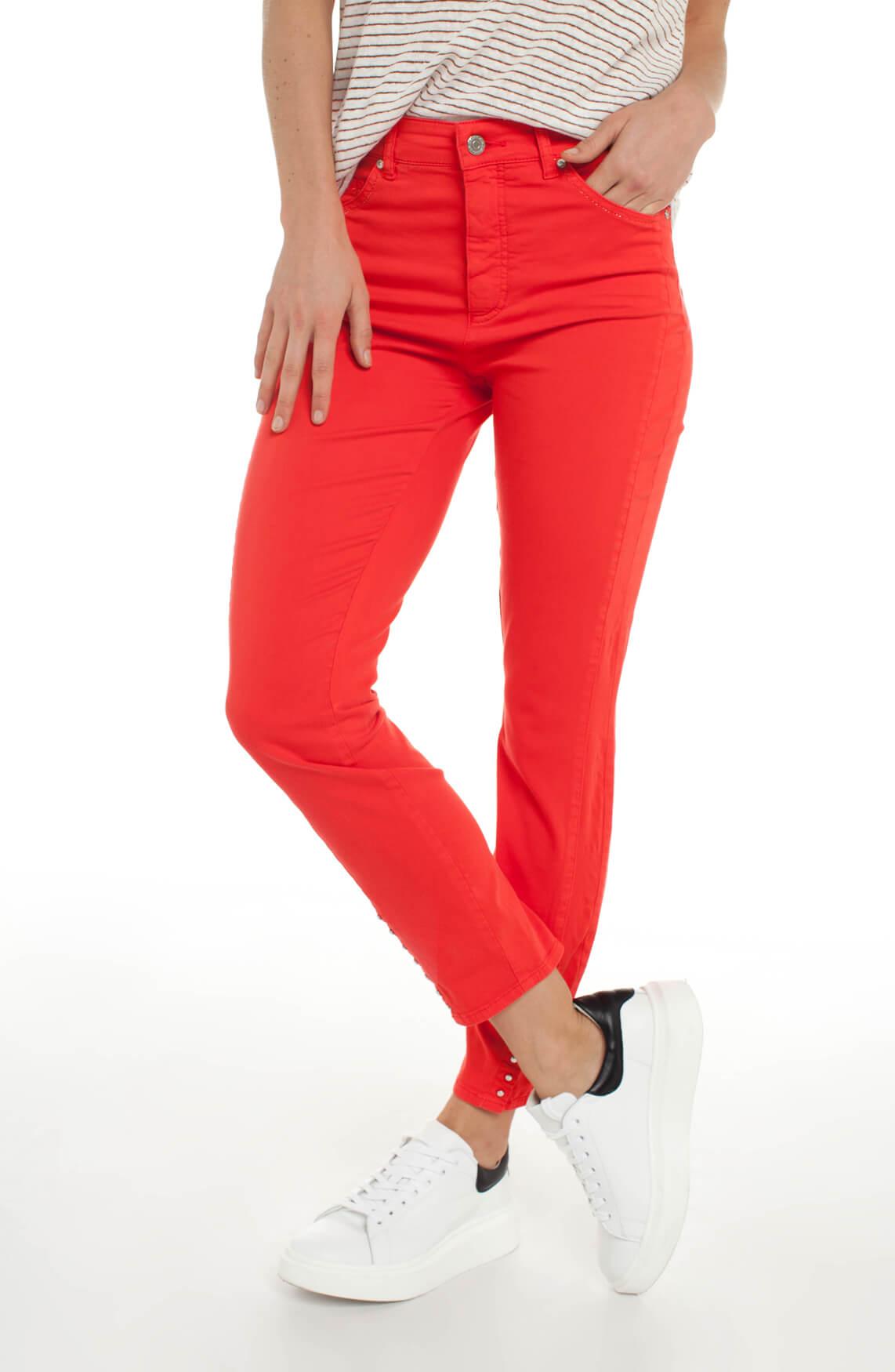 Rosner Dames Audrey broek met knopen Rood