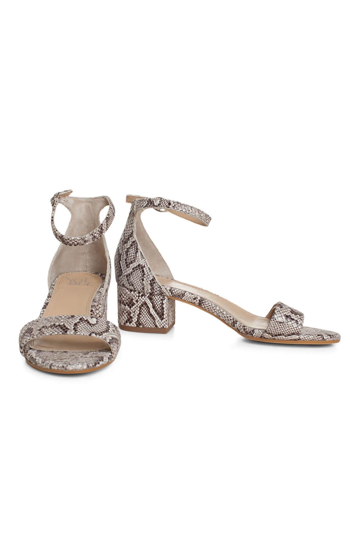 Noi Due Dames Reptielprint sandaal Grijs
