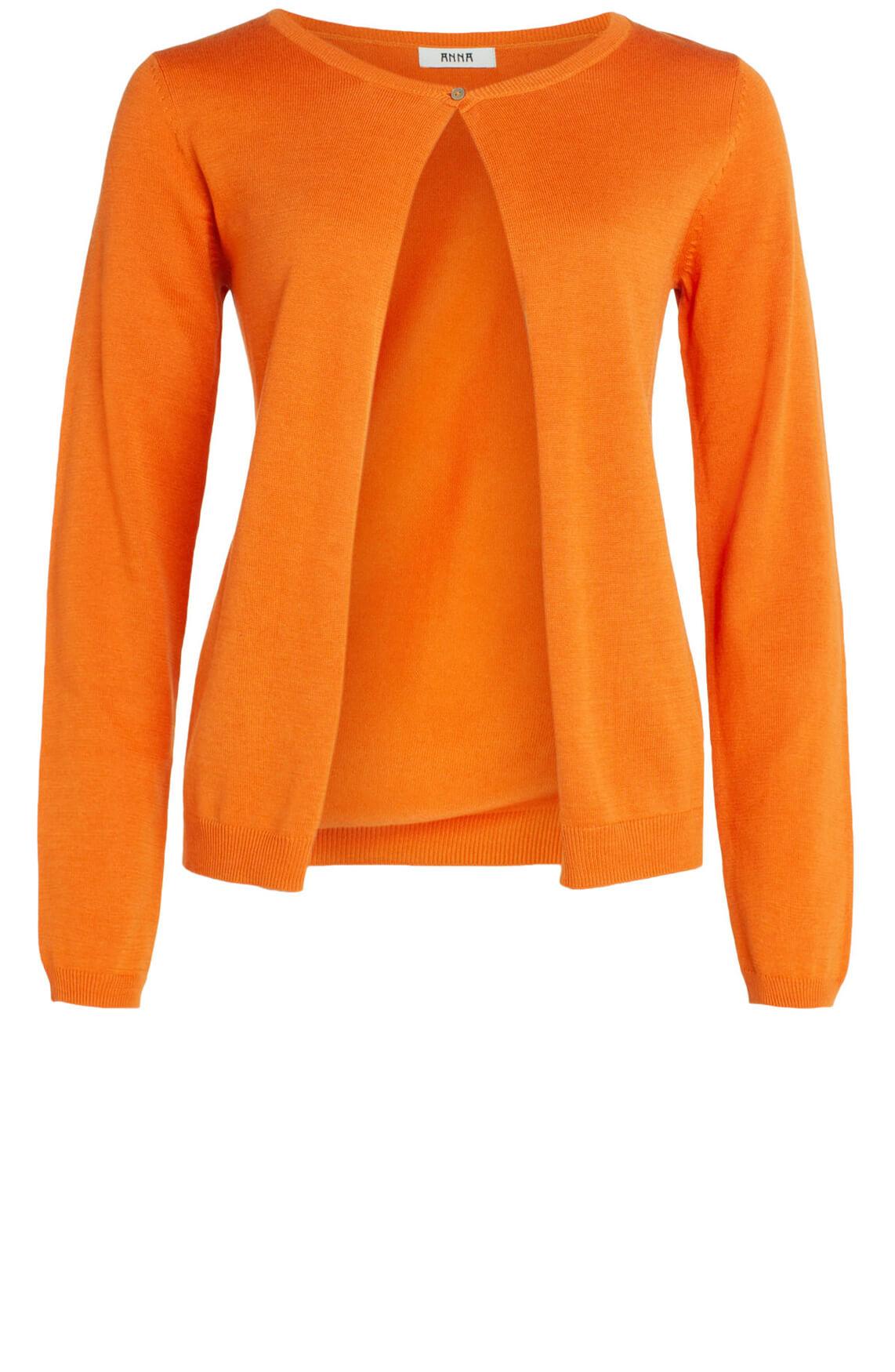 Anna Dames Fijngebreid vestje Oranje